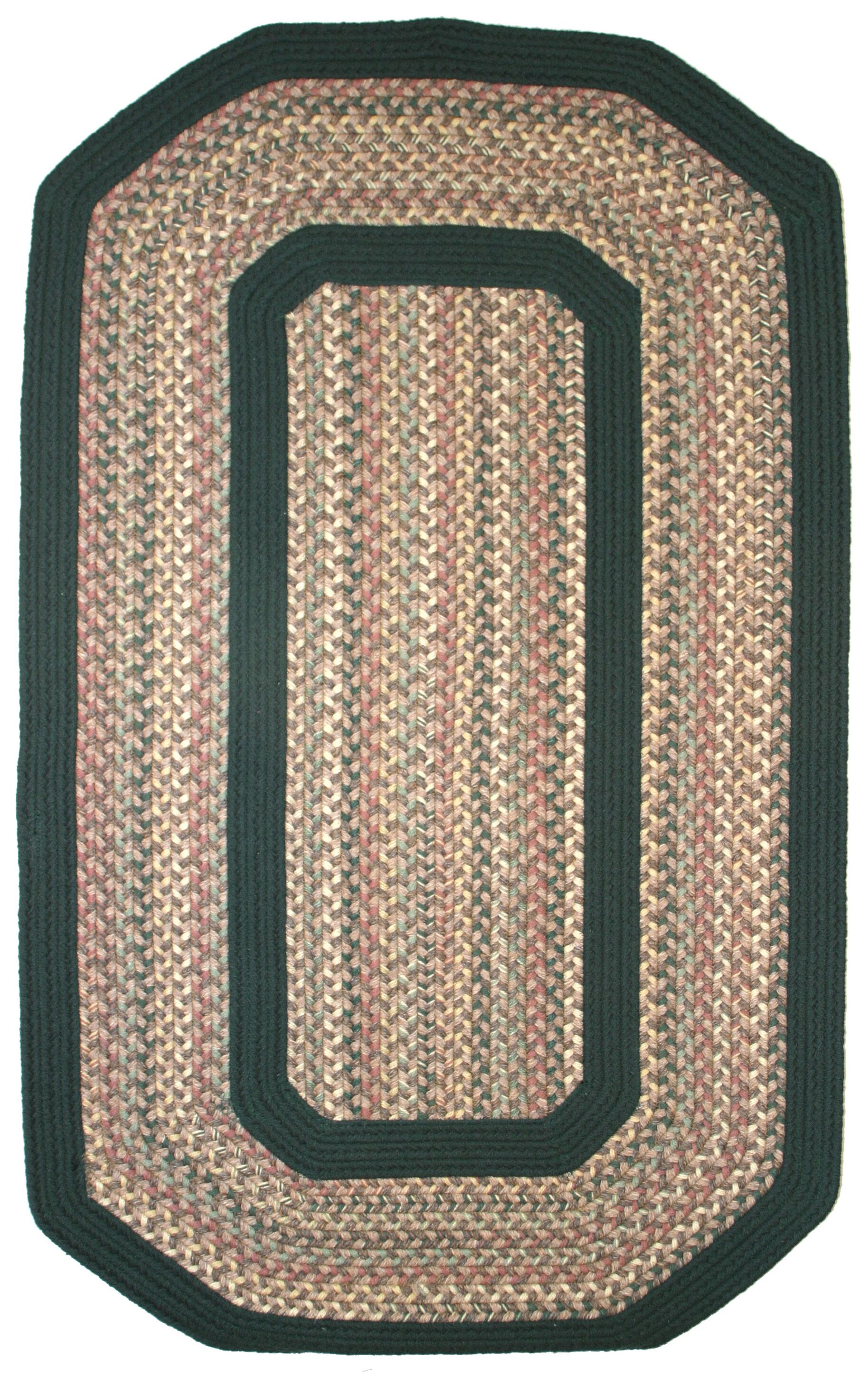 Pioneer Valley II Autumn Wheat with Dark Green Solids Multi Elongated Octagon Rug Rug Size: Elongated Octagon 4' x 6'
