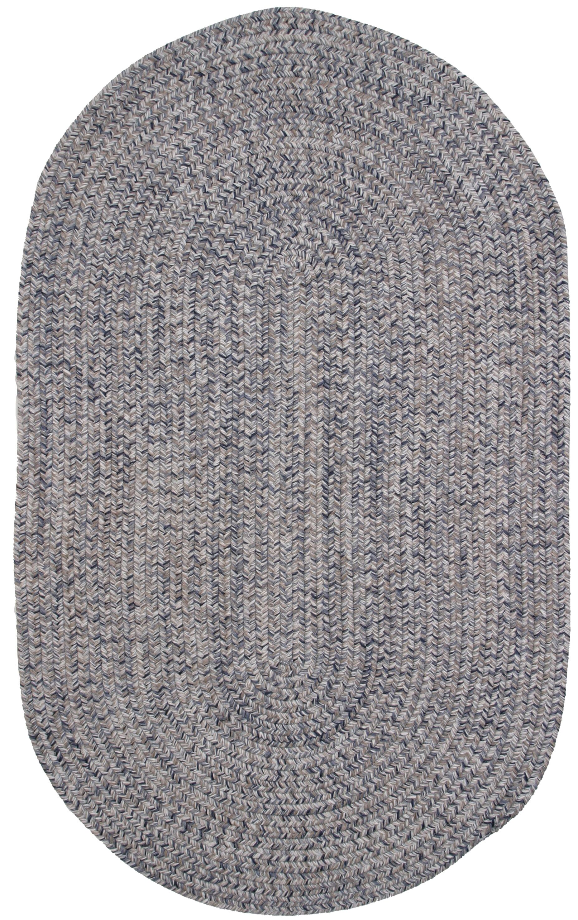 Town Crier Heather Gray Indoor/Outdoor Rug Rug Size: Oval 3' x 5'