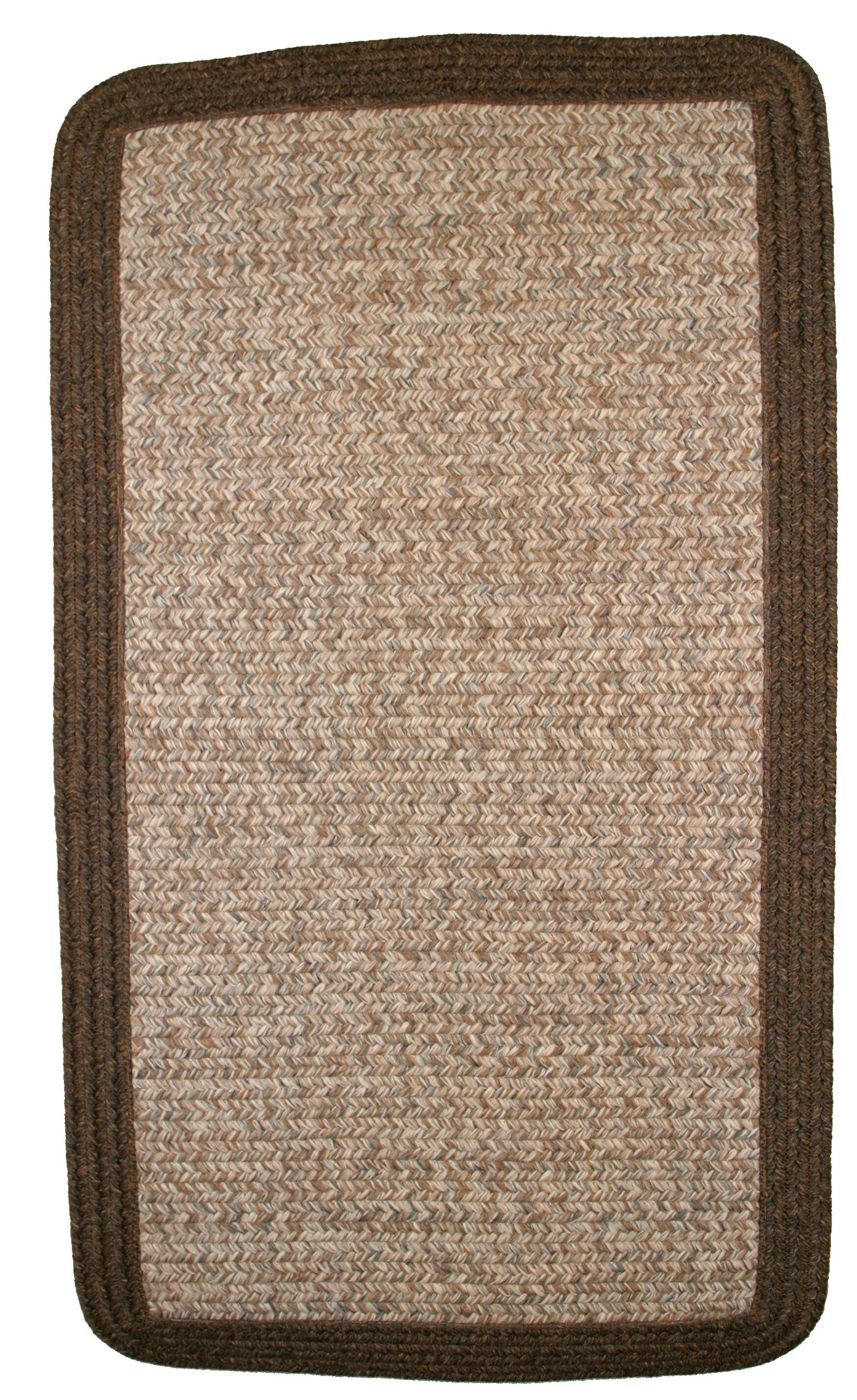 Town Crier Brown Heather with Brown Solids Indoor/Outdoor Rug Rug Size: Rectangle 3' x 5'