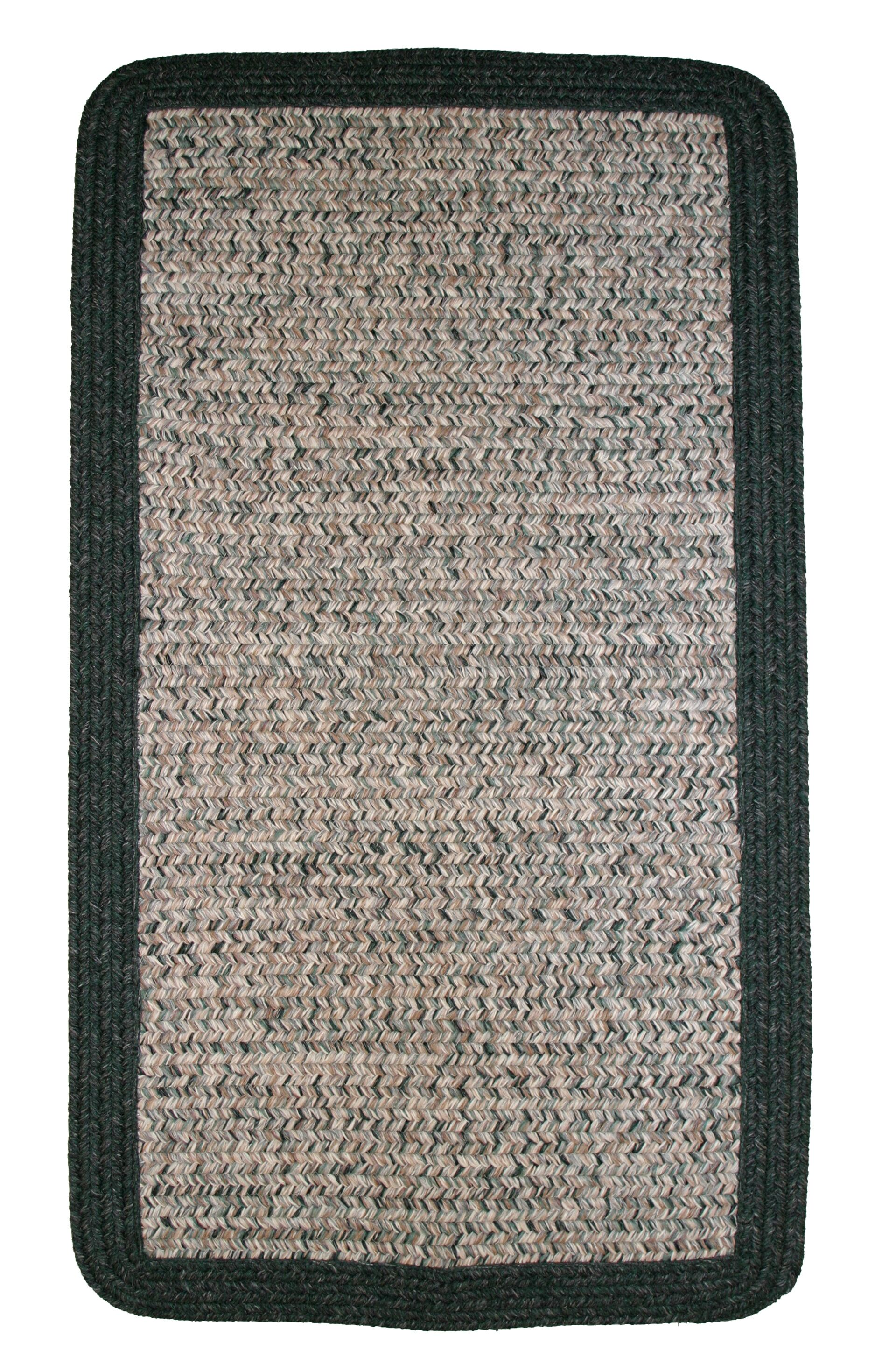 Town Crier Green Heather with Green Solids Indoor/Outdoor Rug Rug Size: Rectangle 9' x 12'