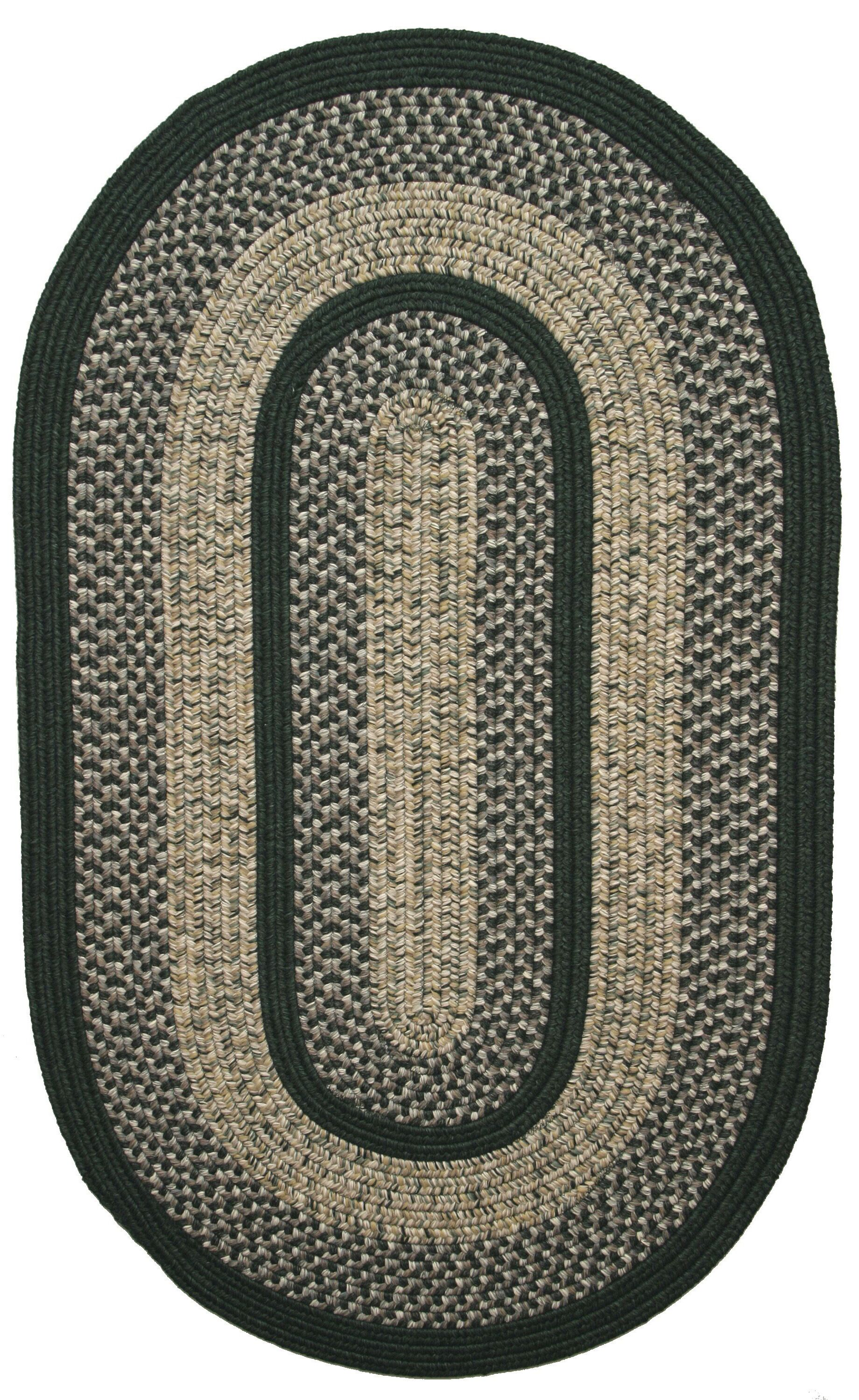 Town Crier Green Indoor/Outdoor Rug Rug Size: Oval 3' x 5'