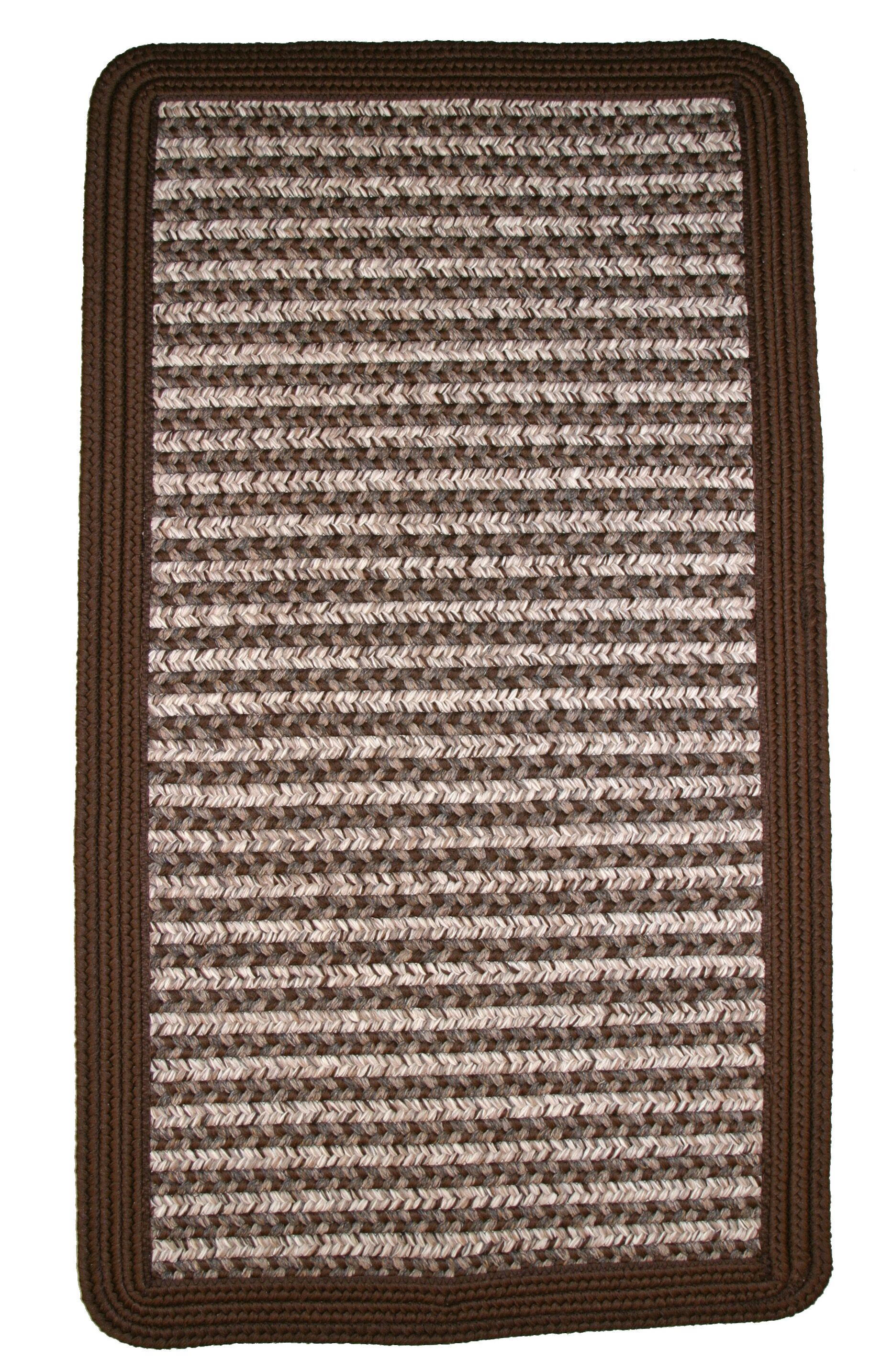 Town Crier Brown Indoor/Outdoor Rug Rug Size: Square 8'