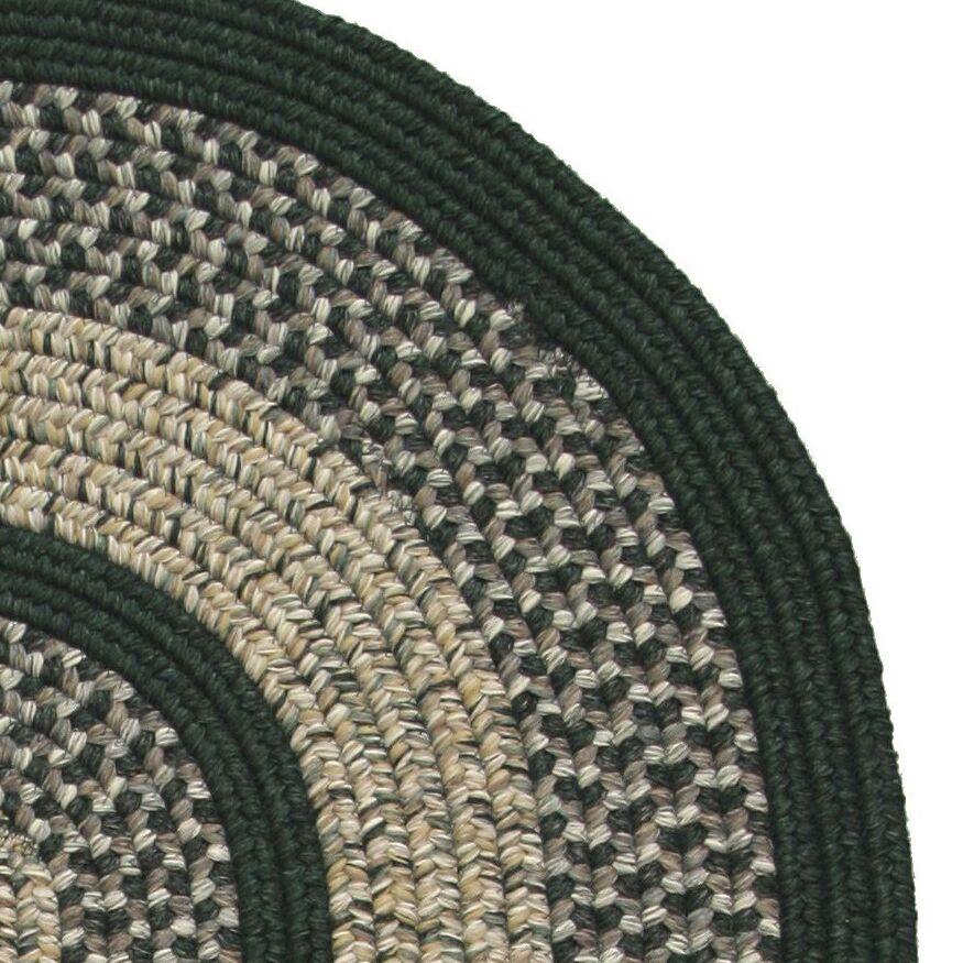 Town Crier Green Indoor/Outdoor Rug Rug Size: Round 4'