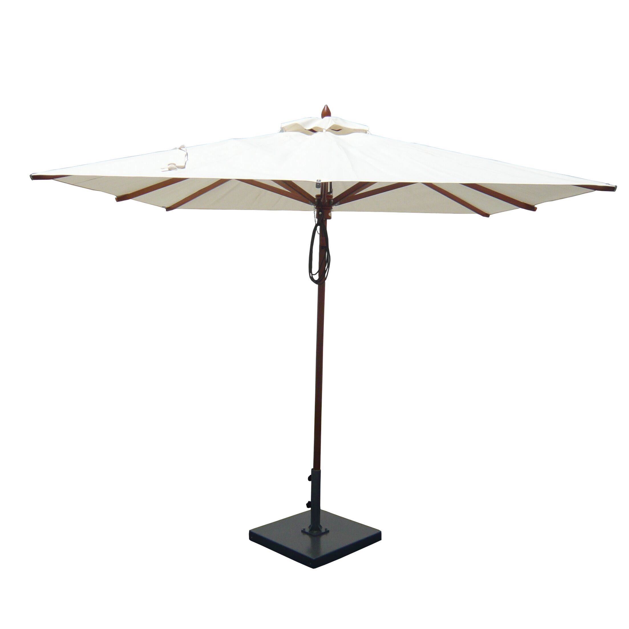 8' Square Market Umbrella Fabric: Natural