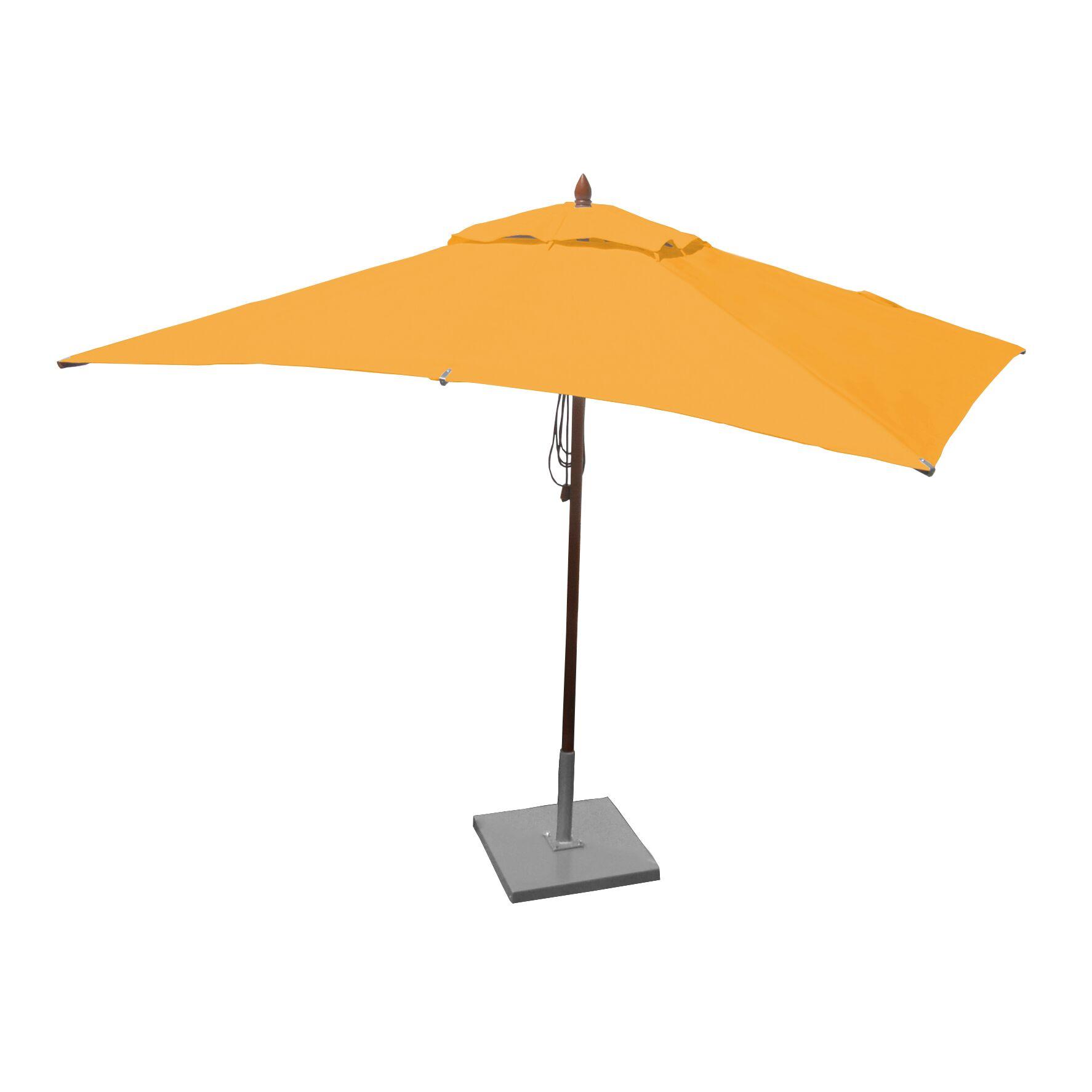 10' X 6.5' Rectangular Market Umbrella Fabric: Sunflower Yellow