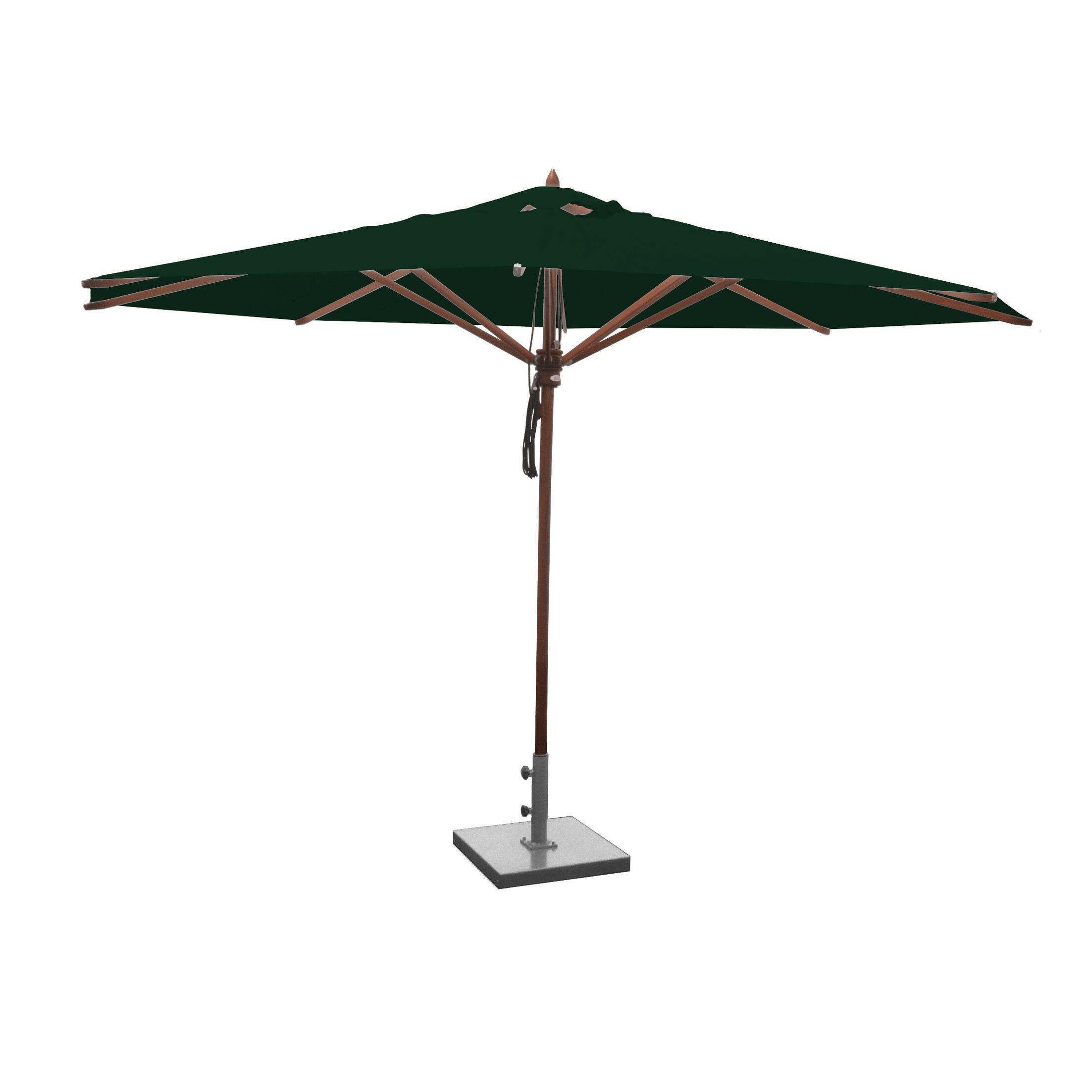 Samuel 13' Market Umbrella Fabric: Forest Green
