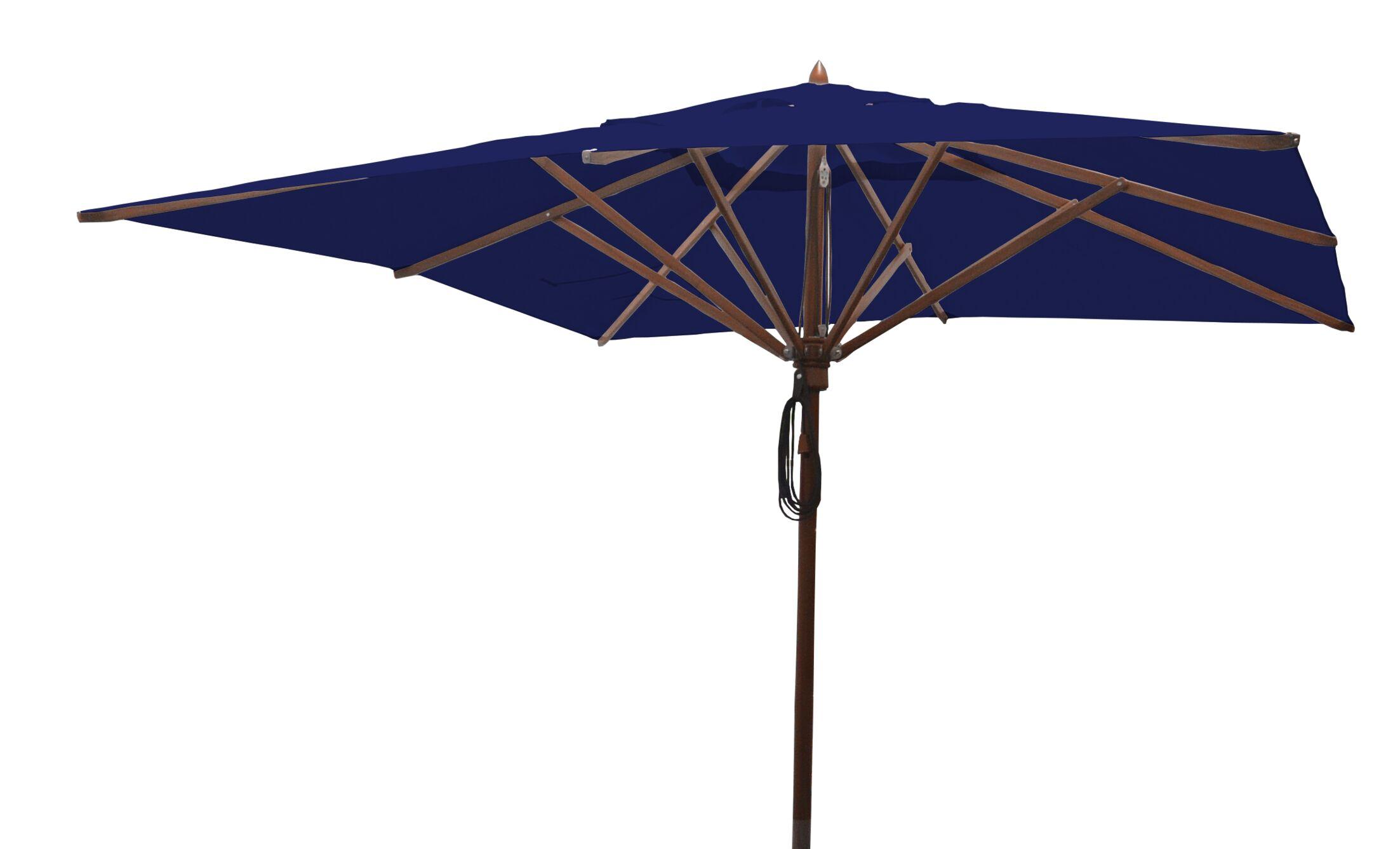 Sabanc 10' Square Market Umbrella Fabric: Ocean Blue