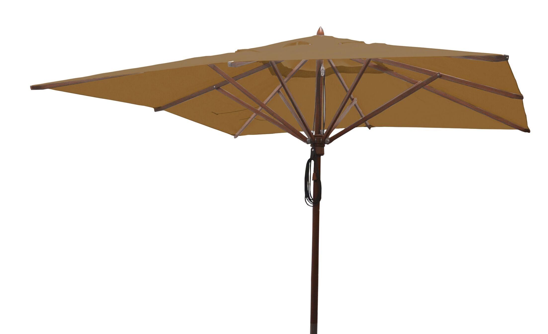 Sabanc 10' Square Market Umbrella Fabric: Beige
