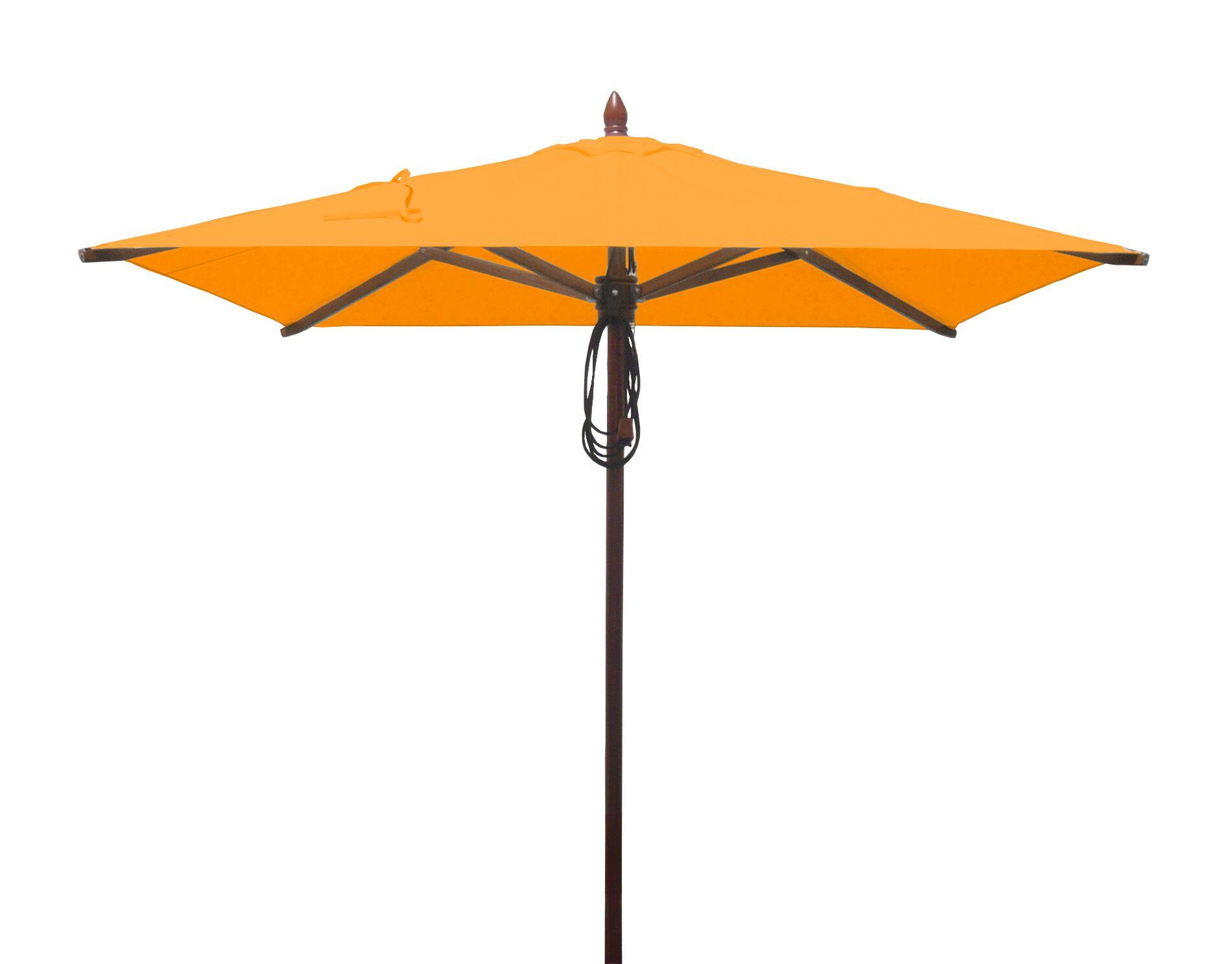 Davila 6.5' Square Market Umbrella Fabric: Yellow