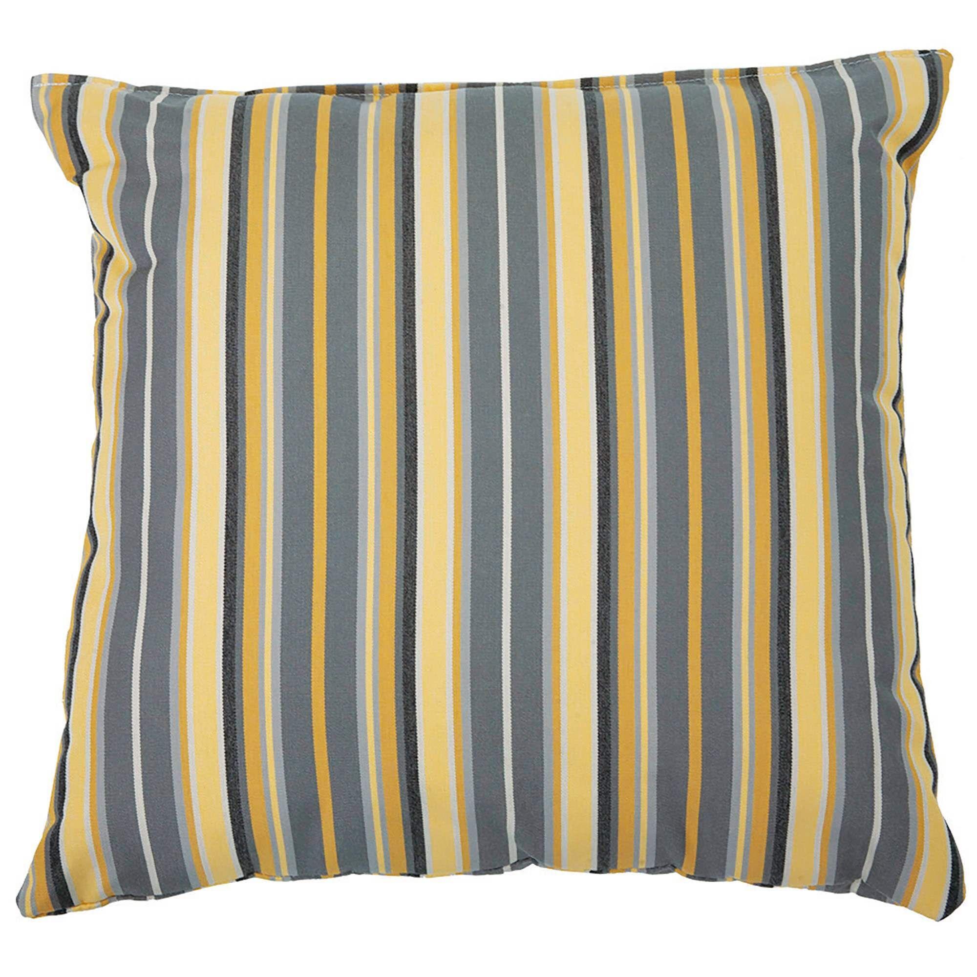 Edelen Sunbrella Throw Pillow Color: Foster Metallic