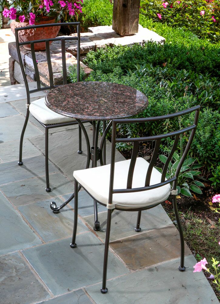 Ponza Granite 3 Piece Bistro Set with Cushions