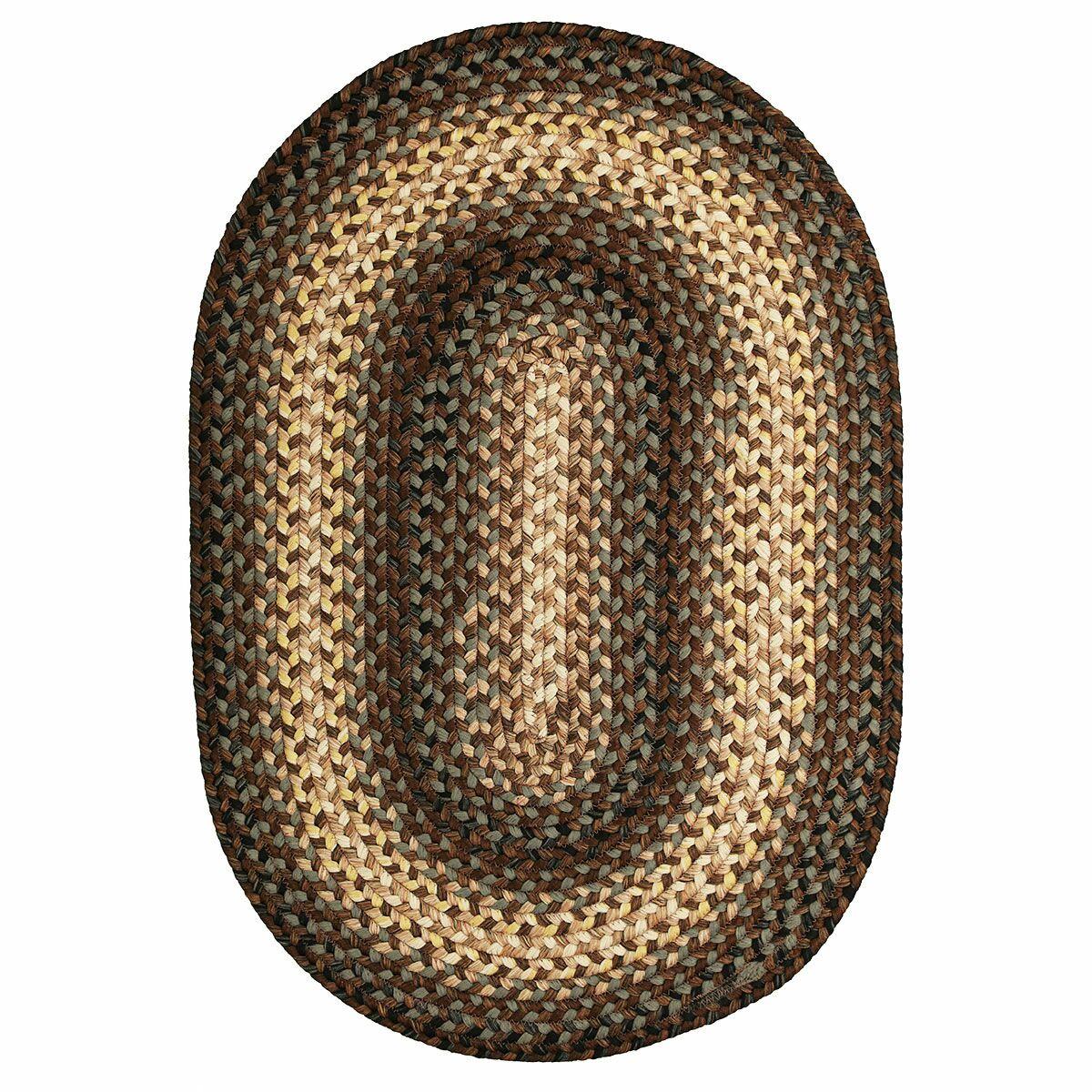 Driftwood Brown Indoor/Outdoor Rug Rug Size: Oval 4' x 6'