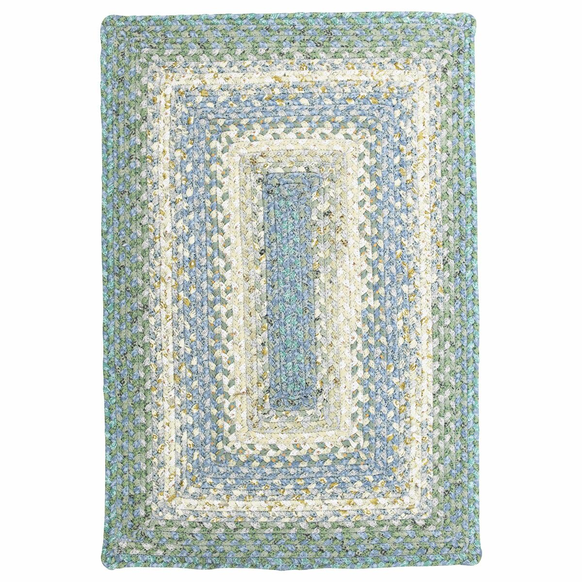 Cotton Braided Baja Blue Area Rug Rug Size: Rectangle 5' x 8'