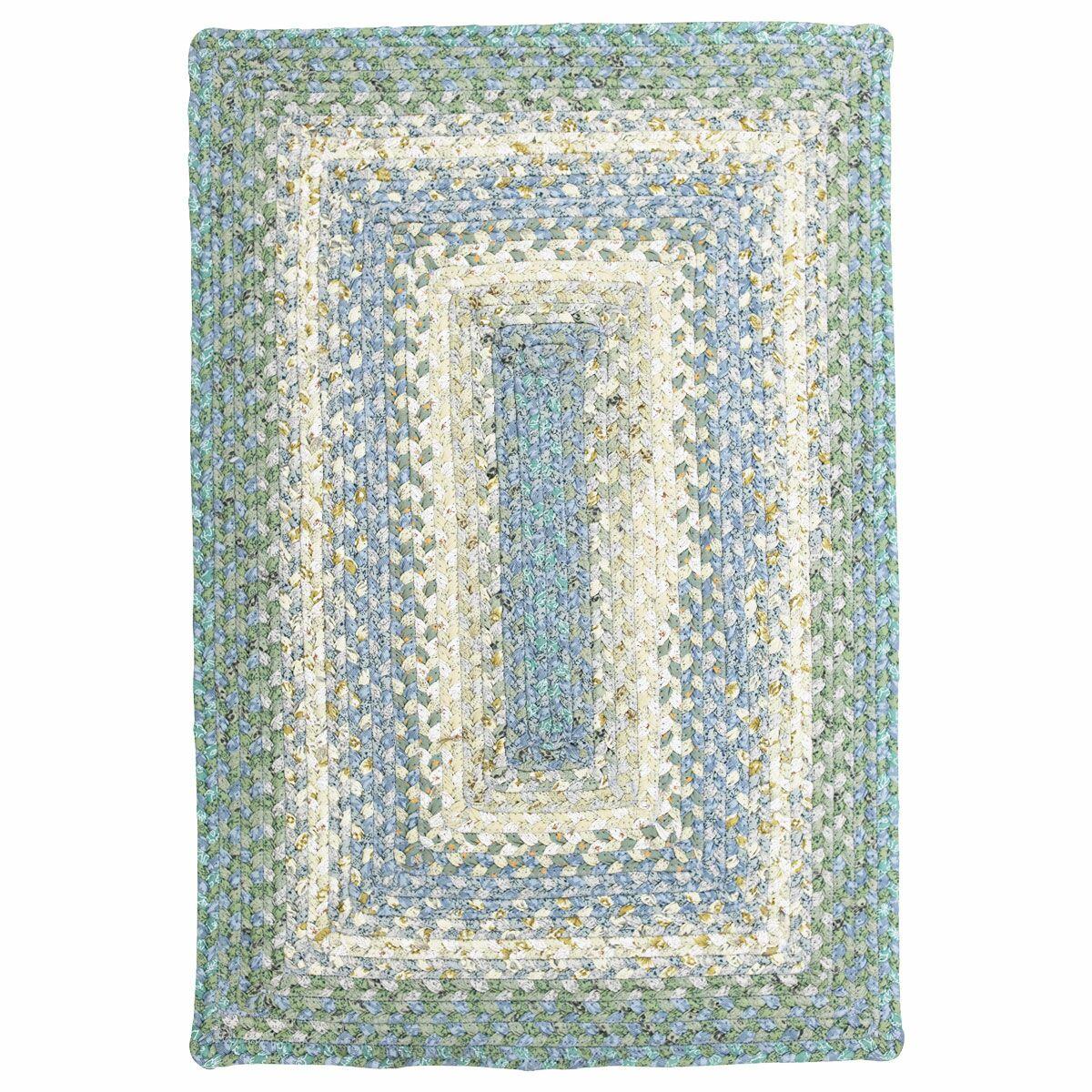 Cotton Braided Baja Blue Area Rug Rug Size: Rectangle 8' x 10'
