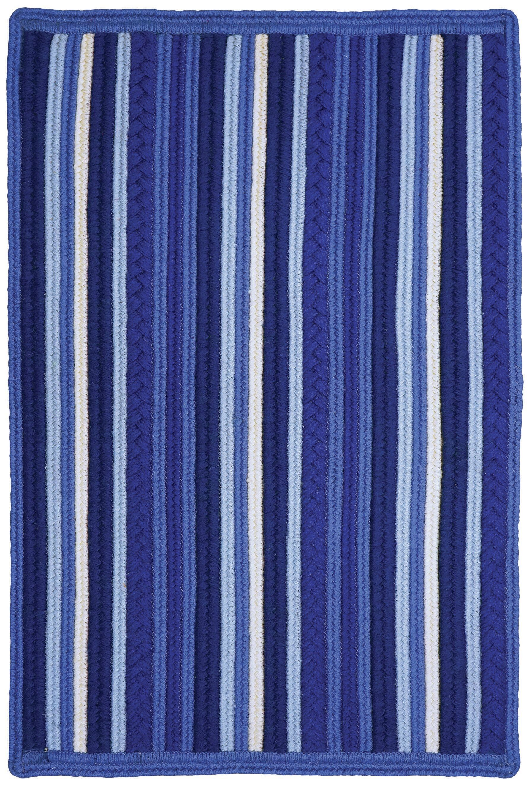 Portsmouth Blue Indoor/Outdoor Area Rug Rug Size: 2'3