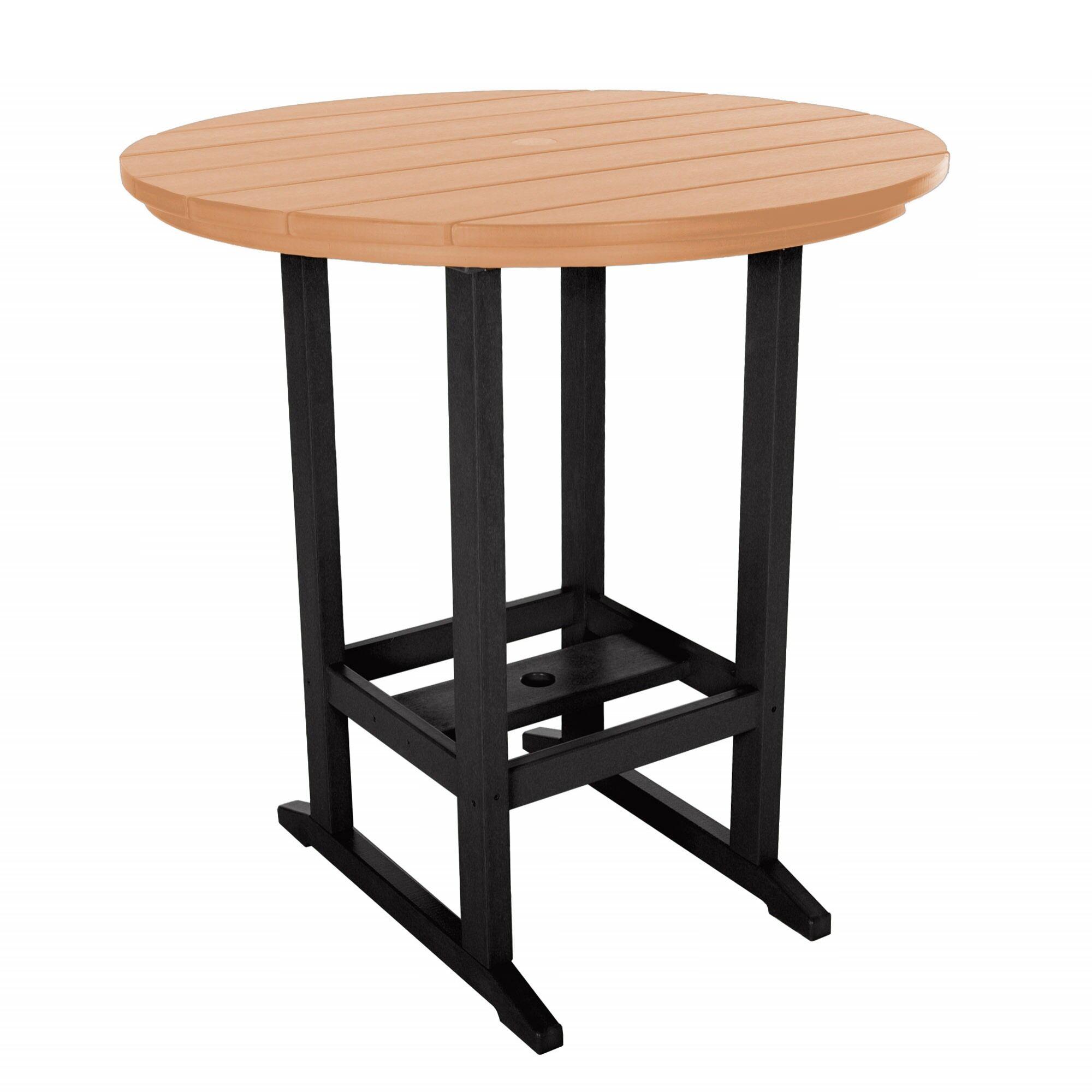 Essentials Bar Table Finish: Black/Cedar