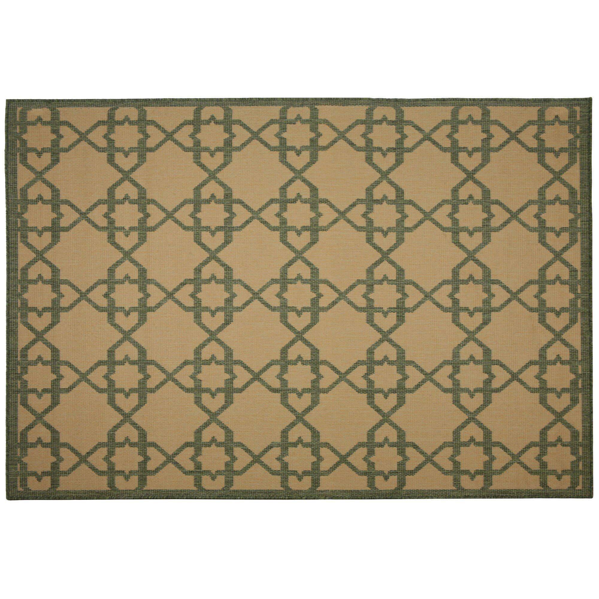 Eduardo Green Geometric Indoor/Outdoor Area Rug Rug Size: Rectangle 2' x 3'