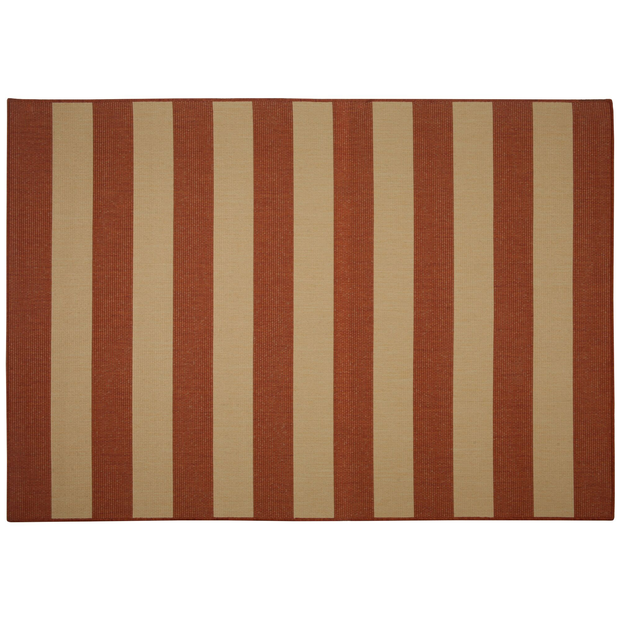 Edgemont Red Stripe Indoor/Outdoor Area Rug Rug Size: Rectangle 7' x 10'