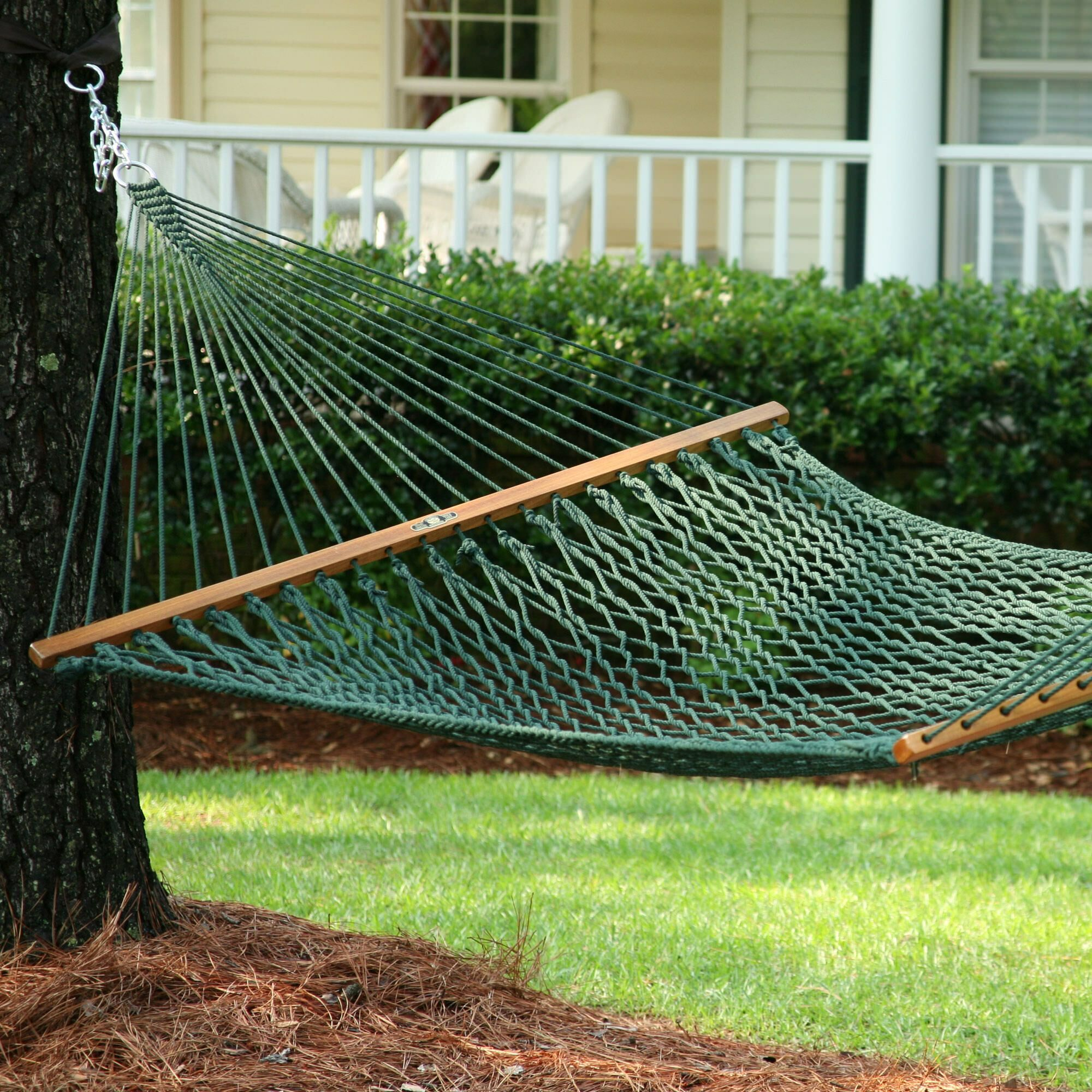 Edmonds Large Original DuraCord Rope Tree Hammock Color: Green, Size: 180