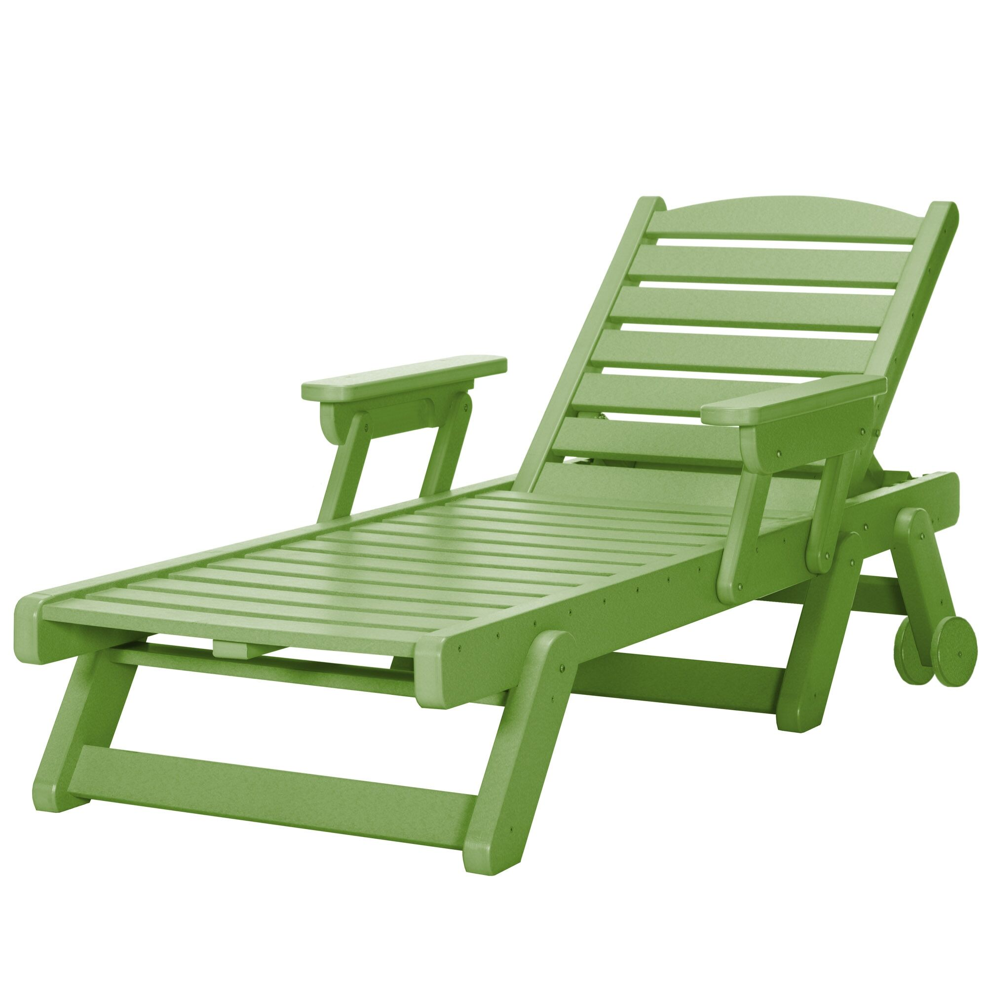 Herrman Wheeled Chaise Lounge Color: Lime