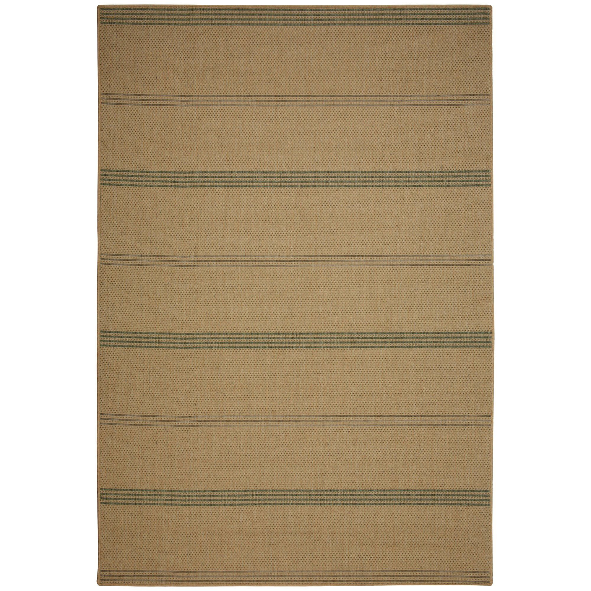 Efird Natural Stripe Indoor/Outdoor Area Rug Rug Size: Rectangle 5' x 7'