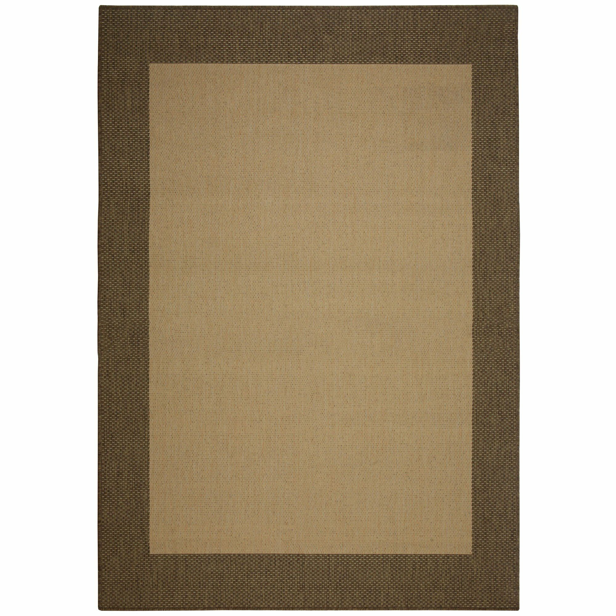 Portofino Cocoa Solid Indoor/Outdoor Area Rug Rug Size: Rectangle 7' x 10'