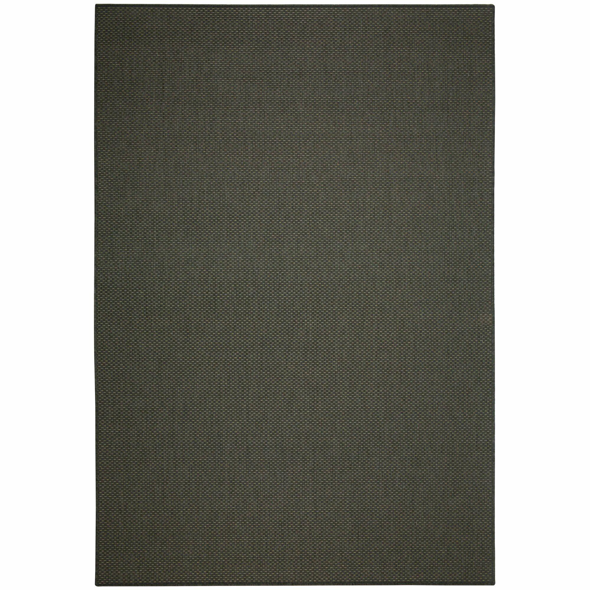 Egan Grey Solid Indoor/Outdoor Area Rug Rug Size: 7'6