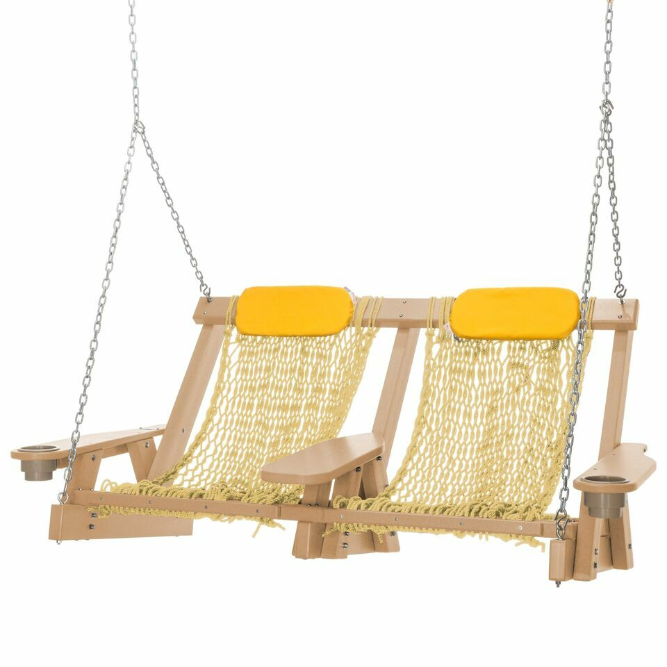 Coastal Duracorda Porch Swing Finish: Cedar, Fabric: Tan