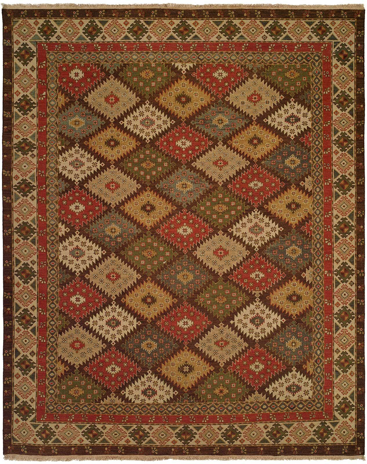 Qasr Hand-Woven Red/Brown Area Rug Rug Size: Rectangle 8' x 10'