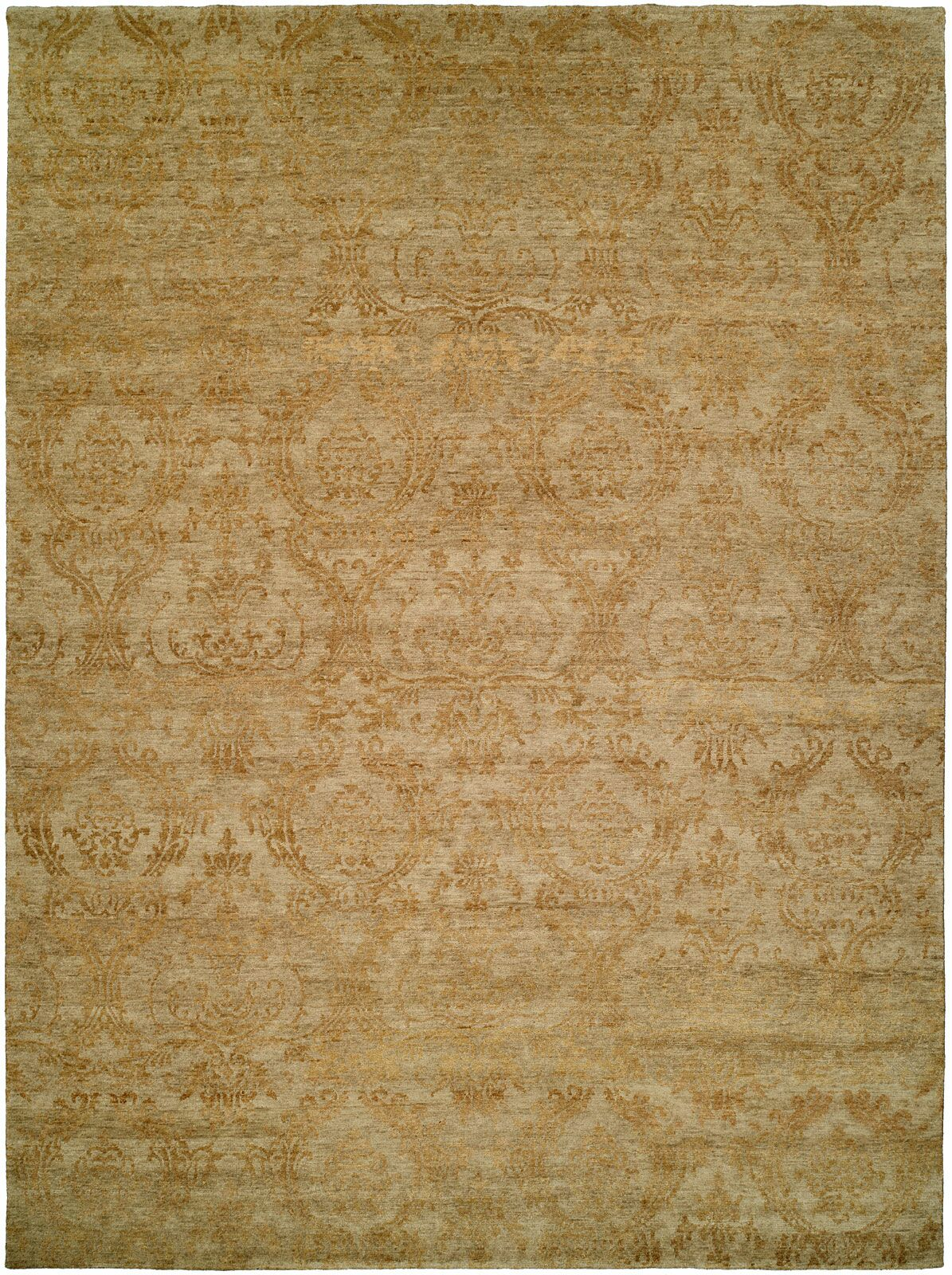 Hurghada Hand-Knotted Beige Area Rug Rug Size: Square 8'
