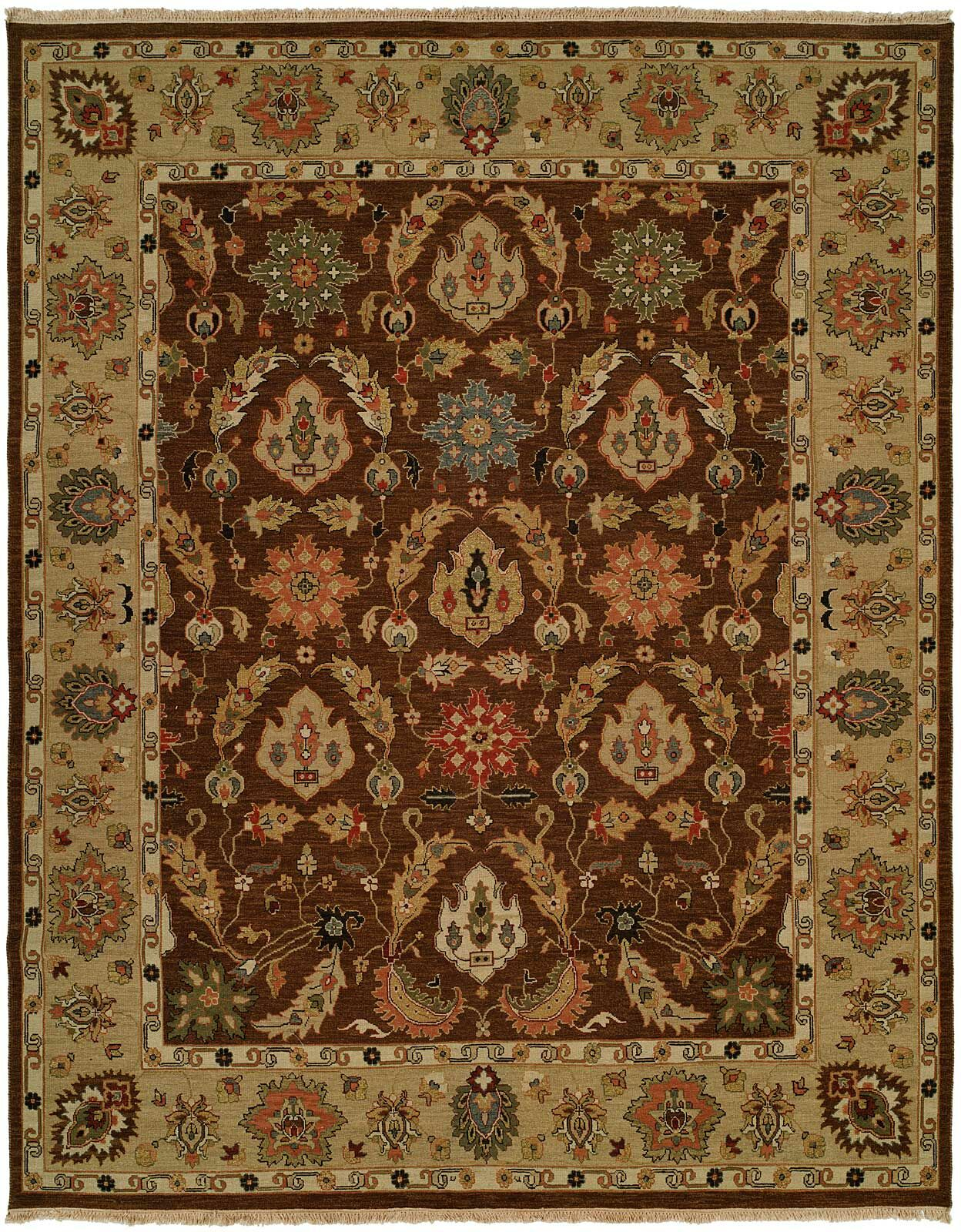 Acapulco Hand-Woven Brown/Camel Area Rug Rug Size: Rectangle 10' x 14'