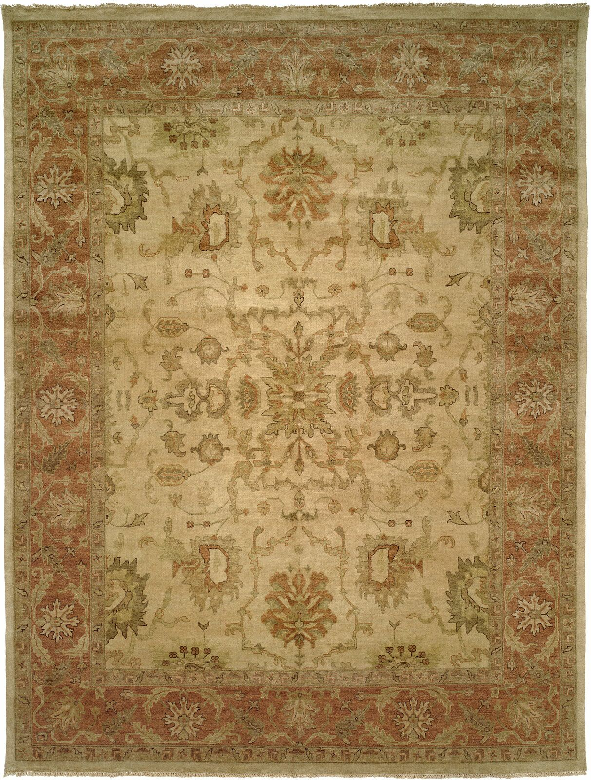 San Lucas Hand-Knotted Ivory Area Rug Rug Size: Runner 2'6