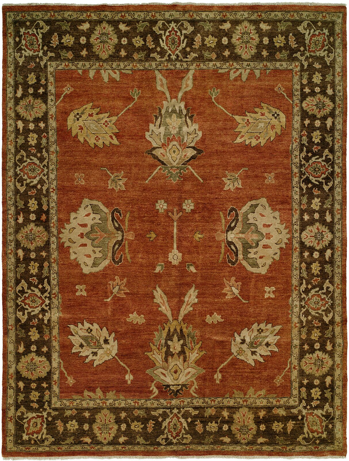 Callao Hand-Knotted Brown/Red Area Rug Rug Size: 12' x 15'