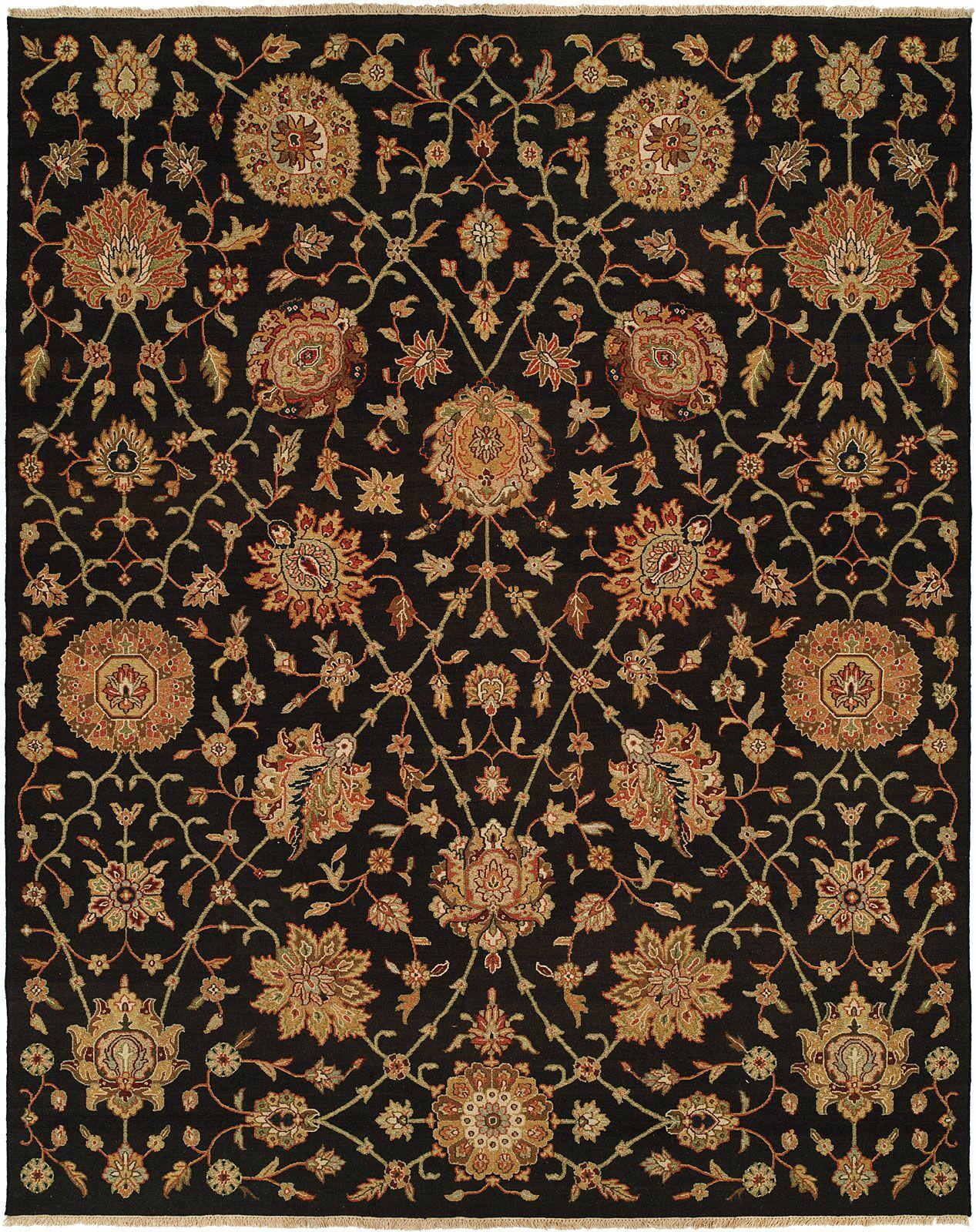 San Lorenzo Hand-Woven Black/Brown Area Rug Rug Size: Rectangle 3' x 5'