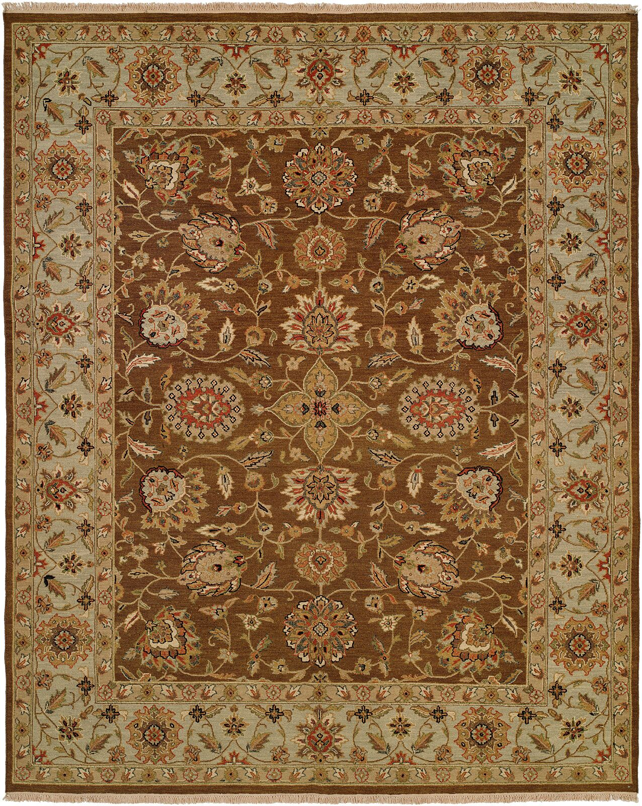 Talcahuano Hand-Woven Brown Area Rug Rug Size: Rectangle 6' x 9'