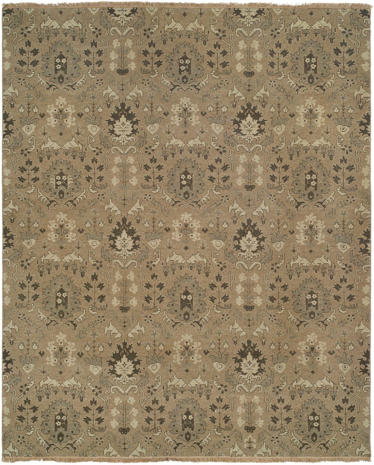 Tauranga Hand-Woven Brown Area Rug Rug Size: Rectangle 9' x 12'
