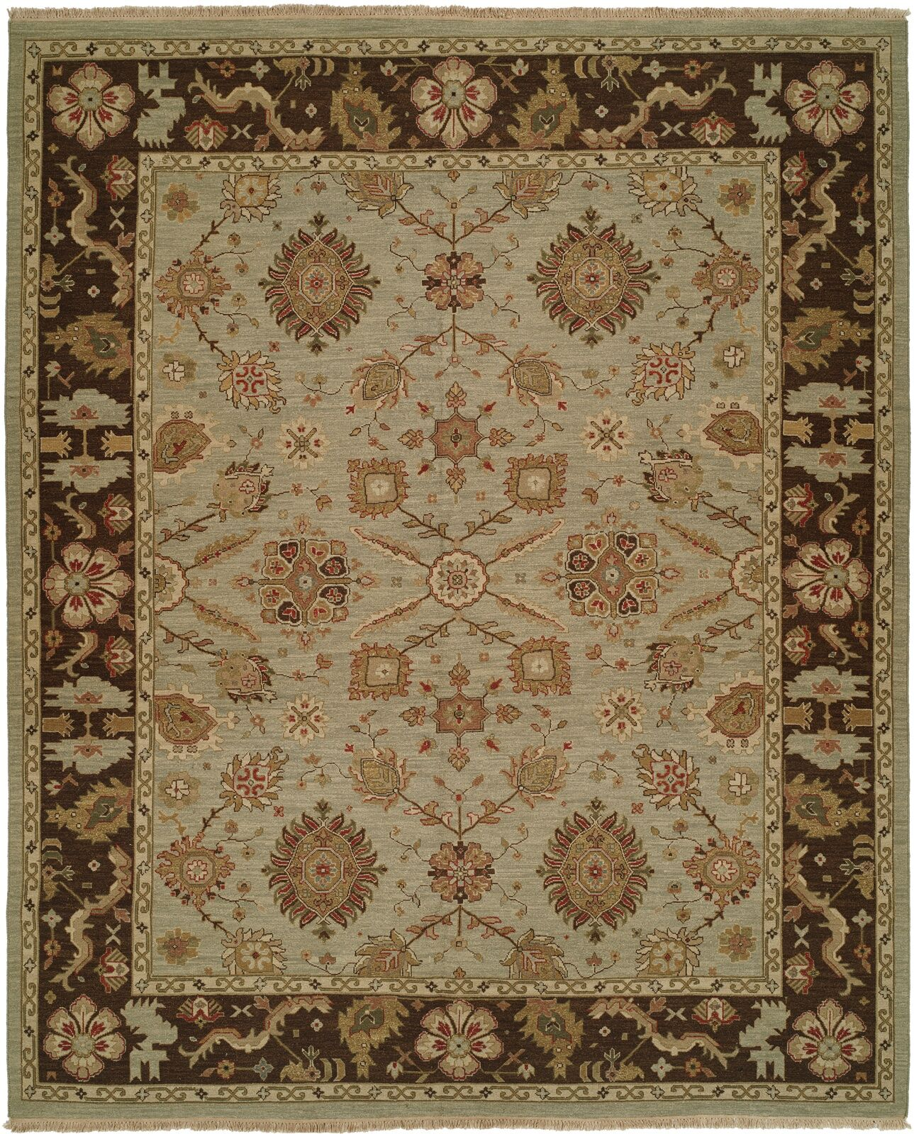Valparaiso Hand-Woven Beige/Brown Area Rug Rug Size: Rectangle 12' x 15'