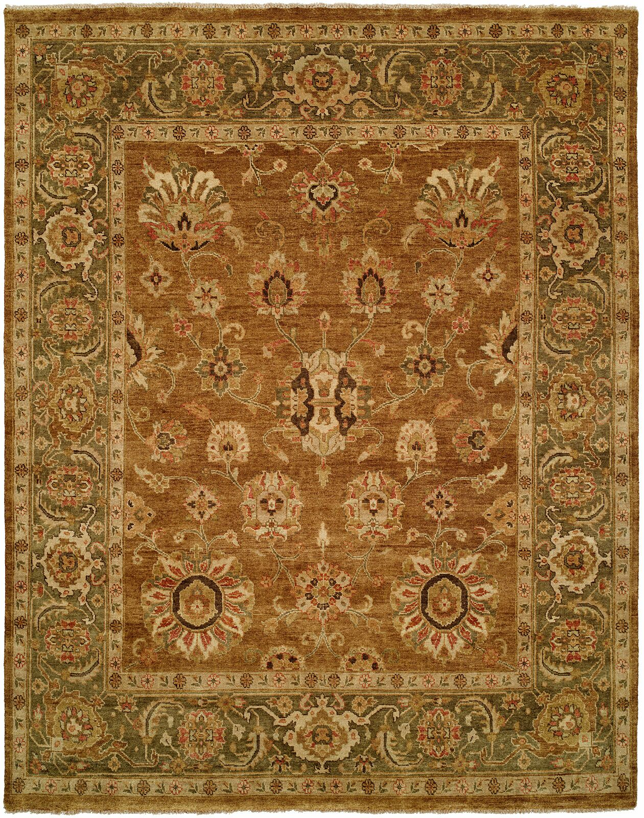Hand-Knotted Brown Area Rug Rug Size: Square 8'