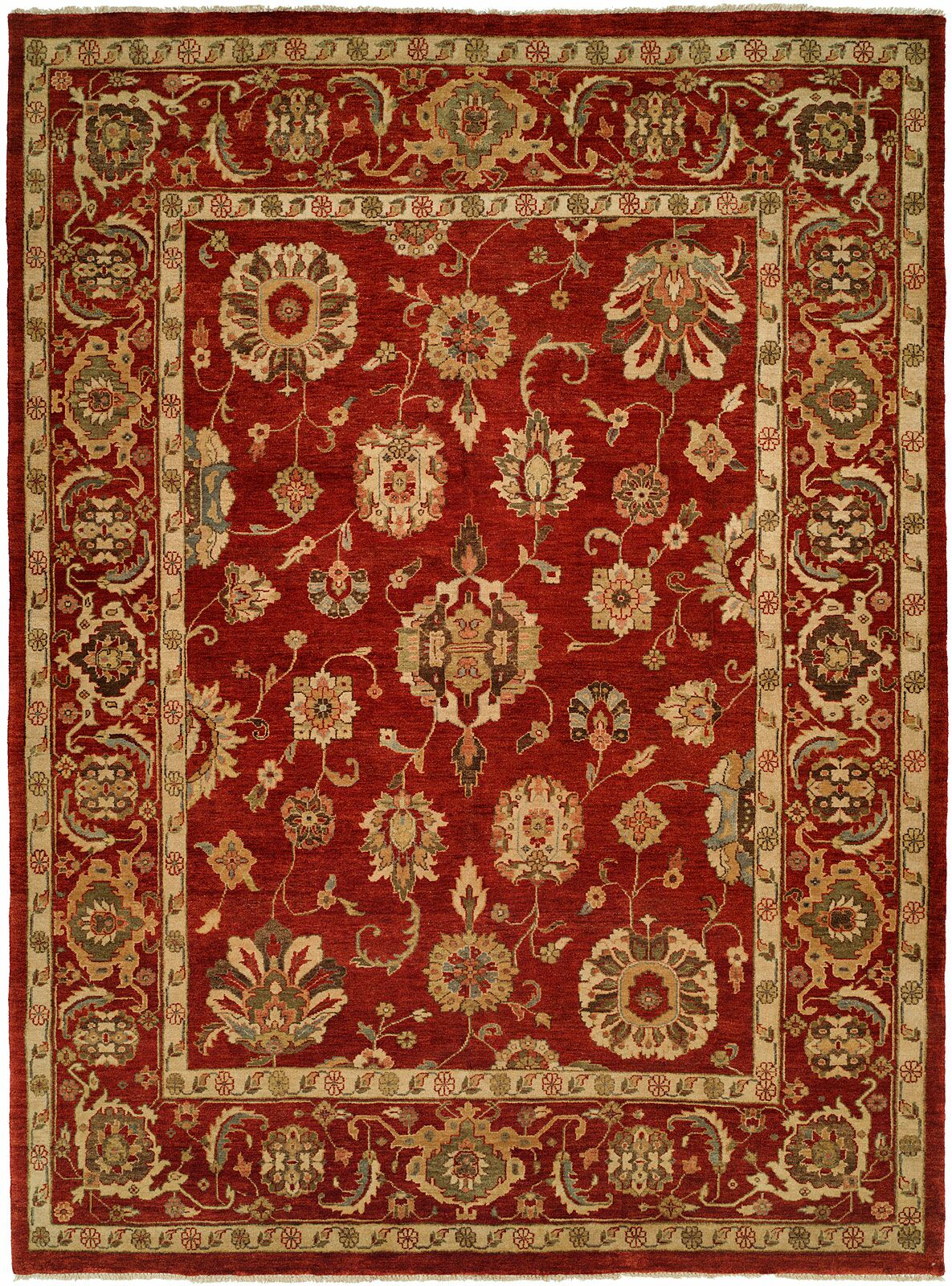 Ushuaia Hand-Knotted Red/Beige Area Rug Rug Size: Runner 2'6