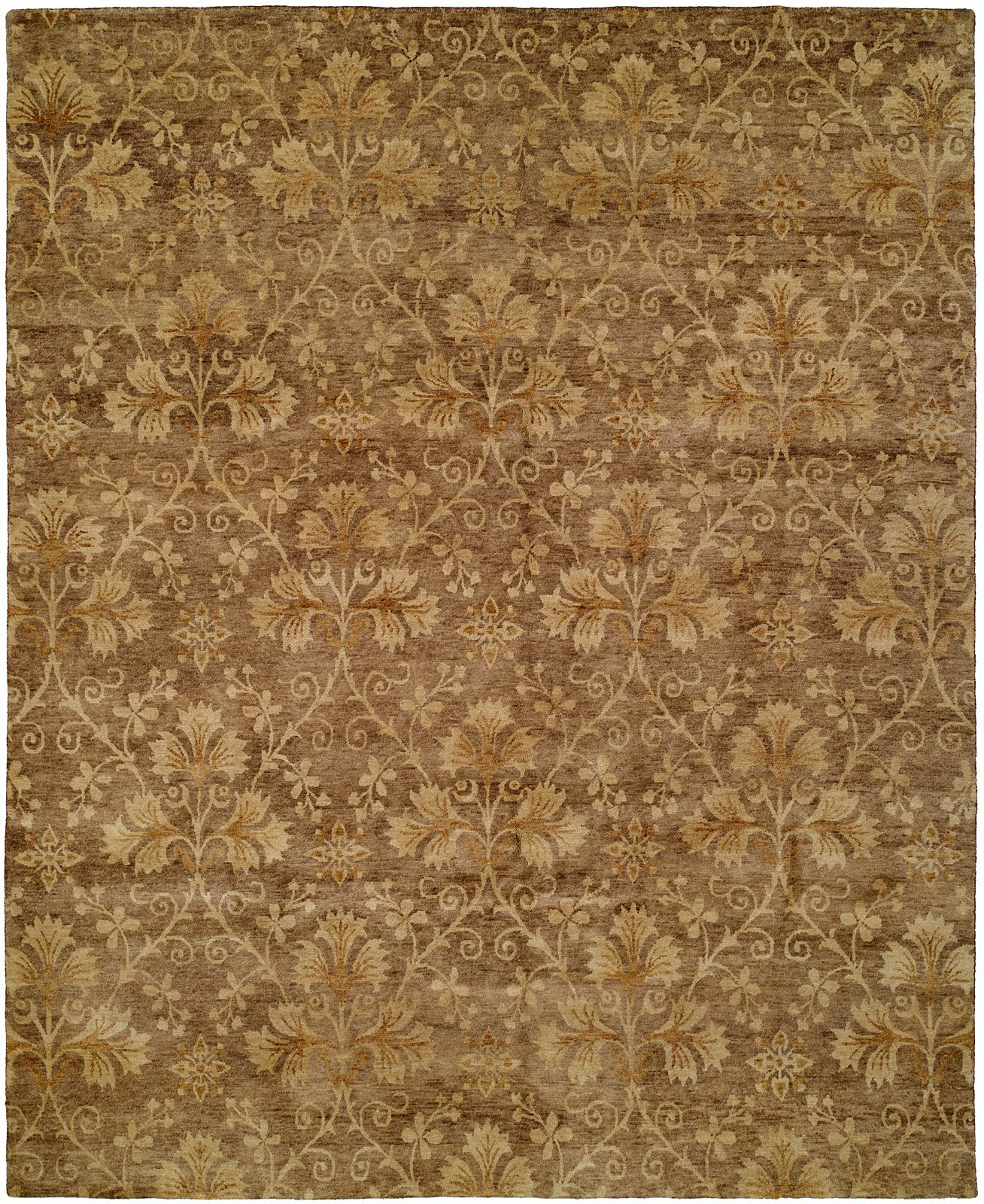 Dongying Hand-Knotted Brown Area Rug Rug Size: Square 10'