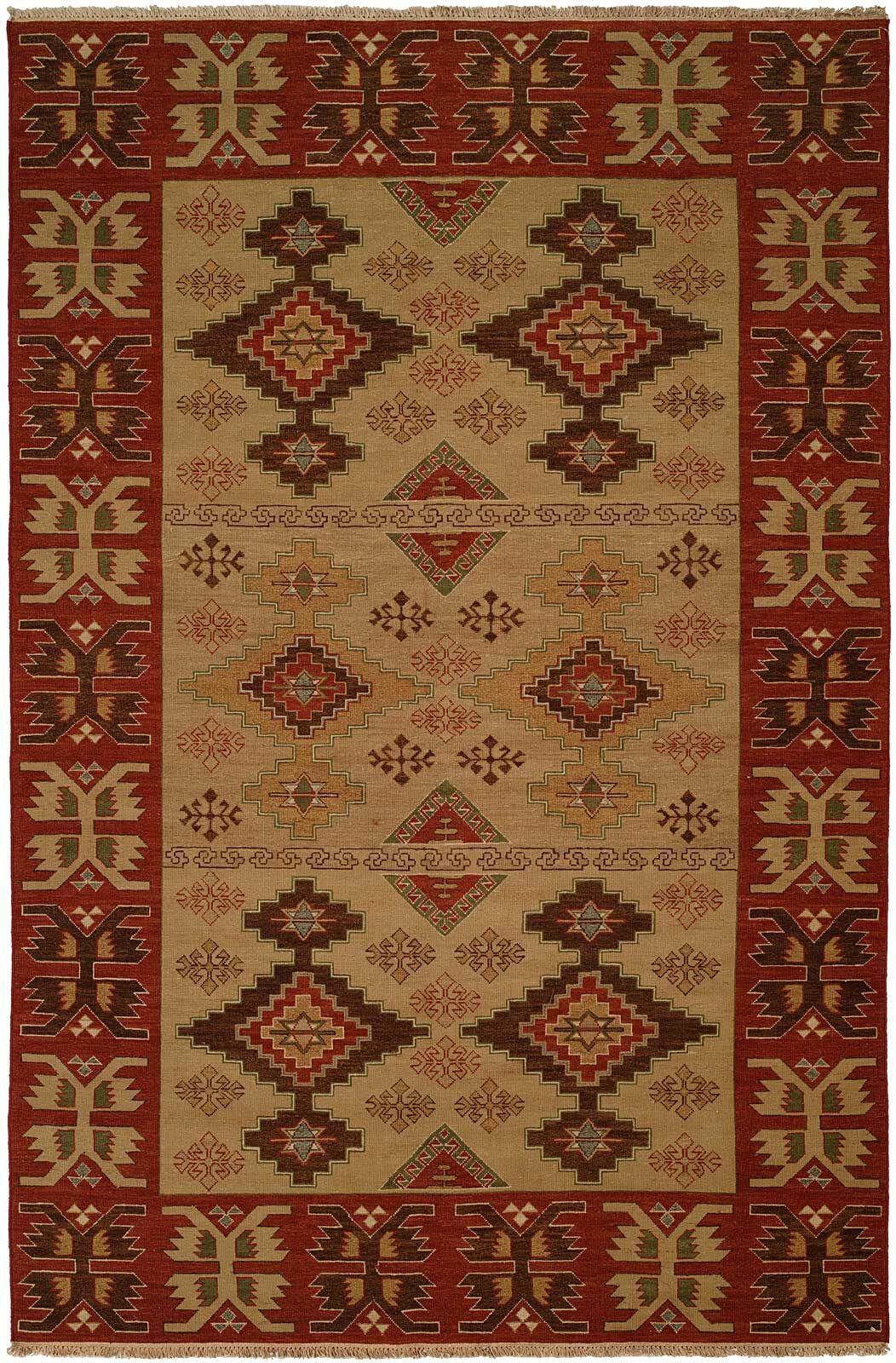 Yingkou Hand-Woven Brown/Red Area Rug Rug Size: Rectangle 4' x 10'