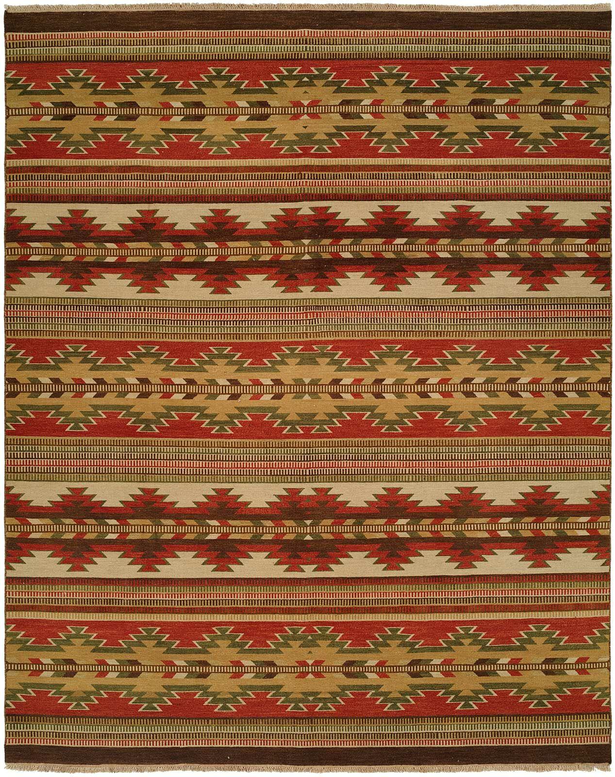 Hangu Red/Beige Area Rug Rug Size: Rectangle 6' x 9'