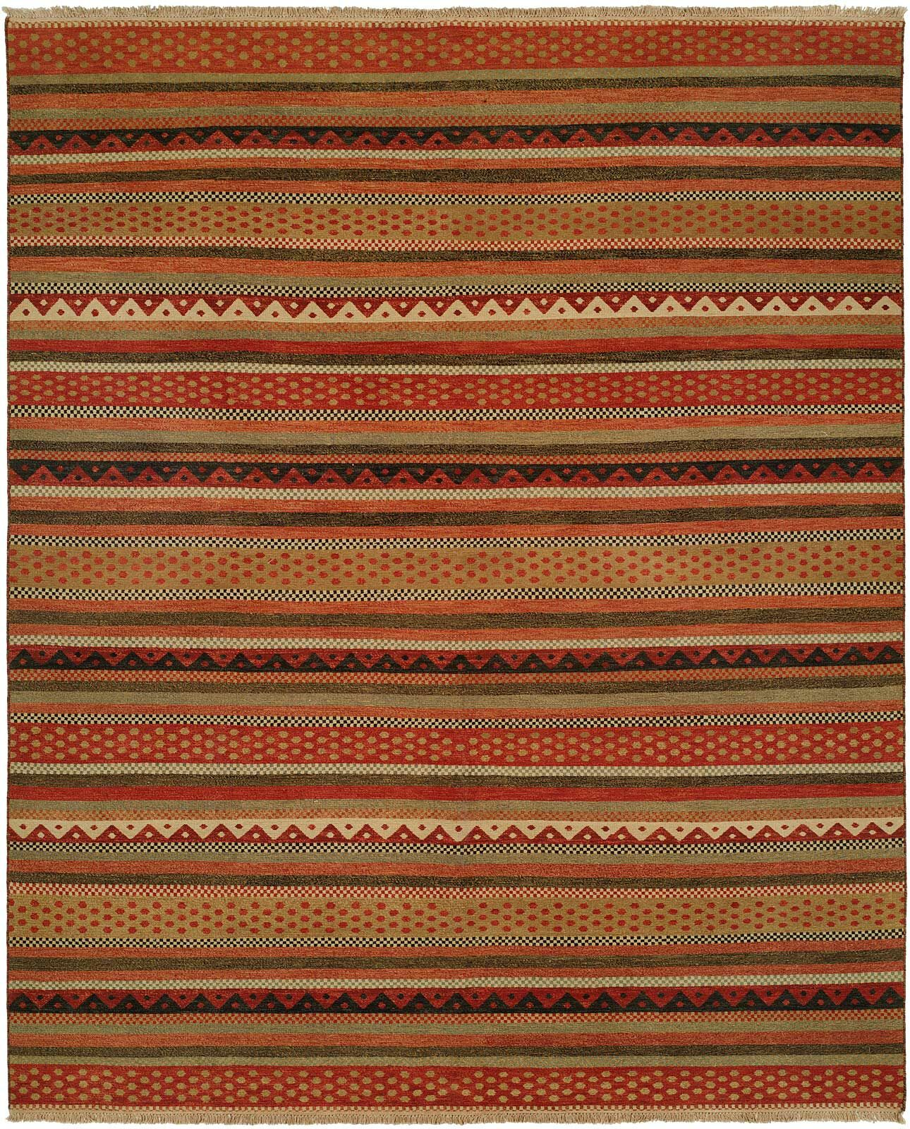 Queensland Brown/Red Area Rug Rug Size: Rectangle 12' x 15'