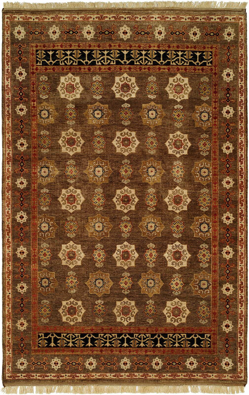 Brisbane Hand-Knotted Brown Area Rug Rug Size: Runner 2'6