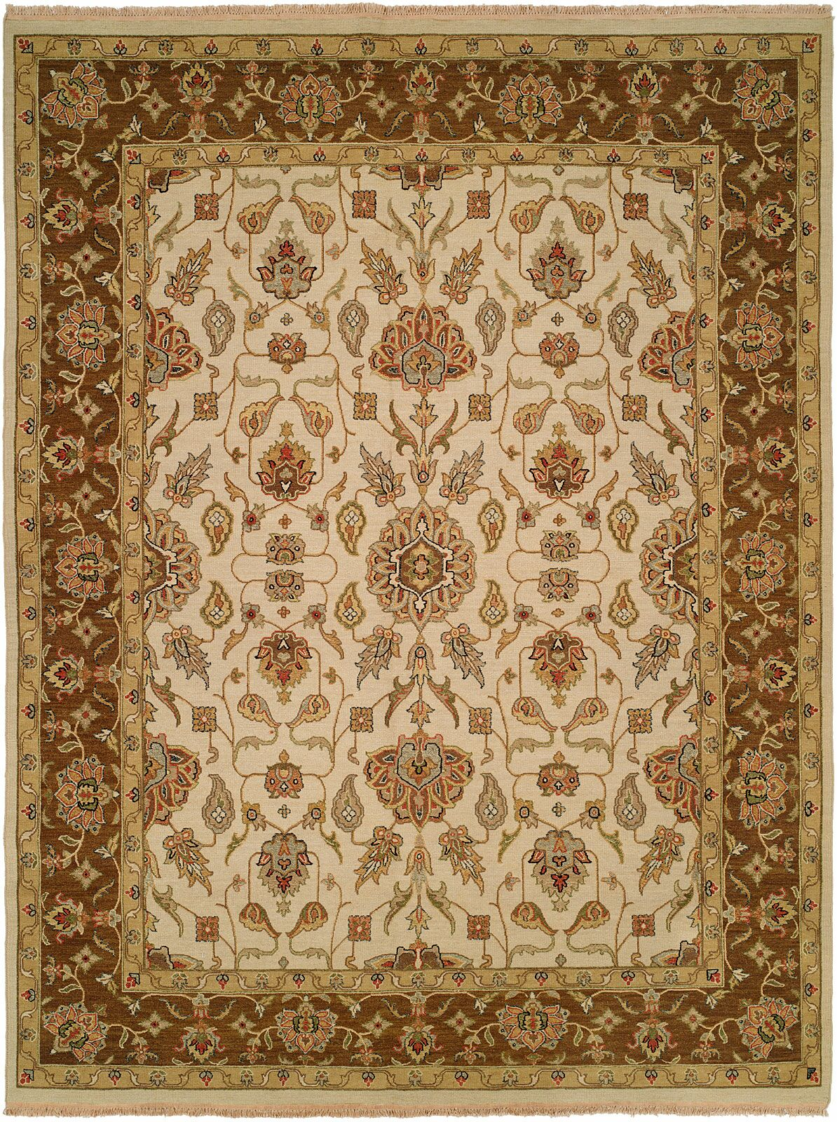 Townsville Hand-Woven Ivory/Brown Area Rug Rug Size: Rectangle 4' x 6'