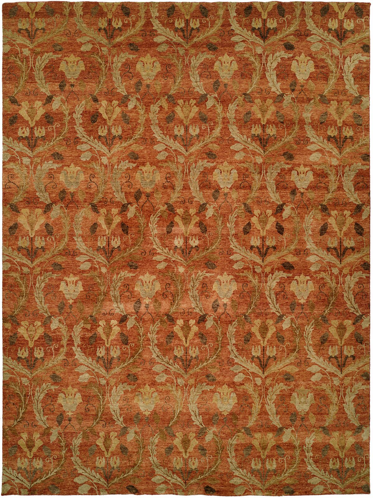 Keelung Hand-Knotted Rust Area Rug Rug Size: Rectangle 3' x 5'
