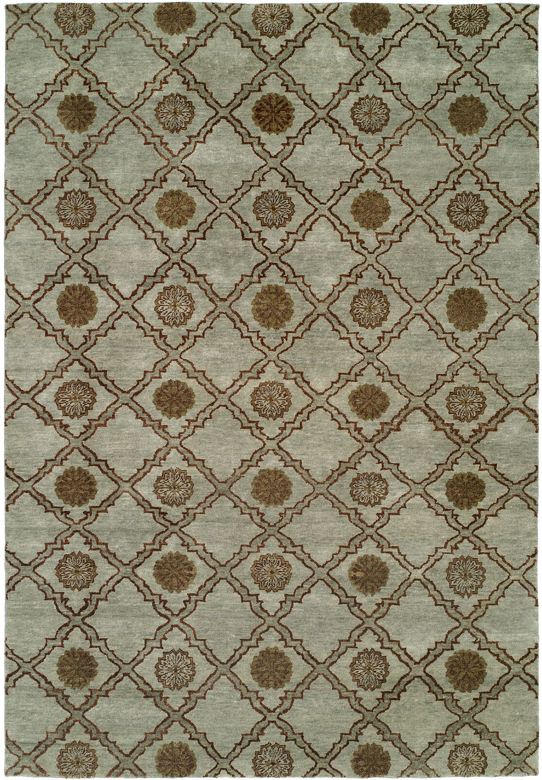 Laem Hand-Knotted Light Blue Area Rug Rug Size: Square 8'