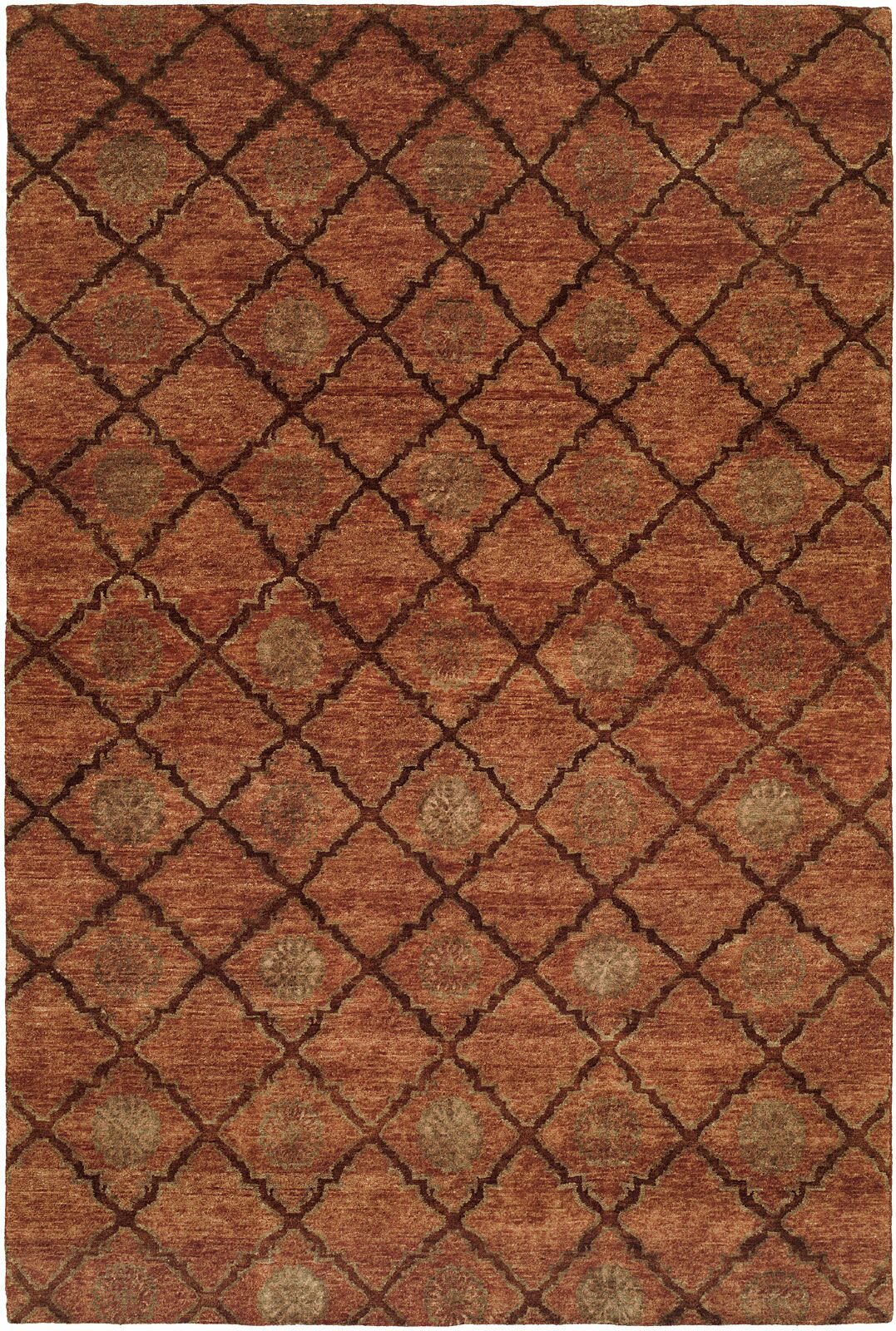 Chabang Hand-Knotted Rust Area Rug Rug Size: Square 10'