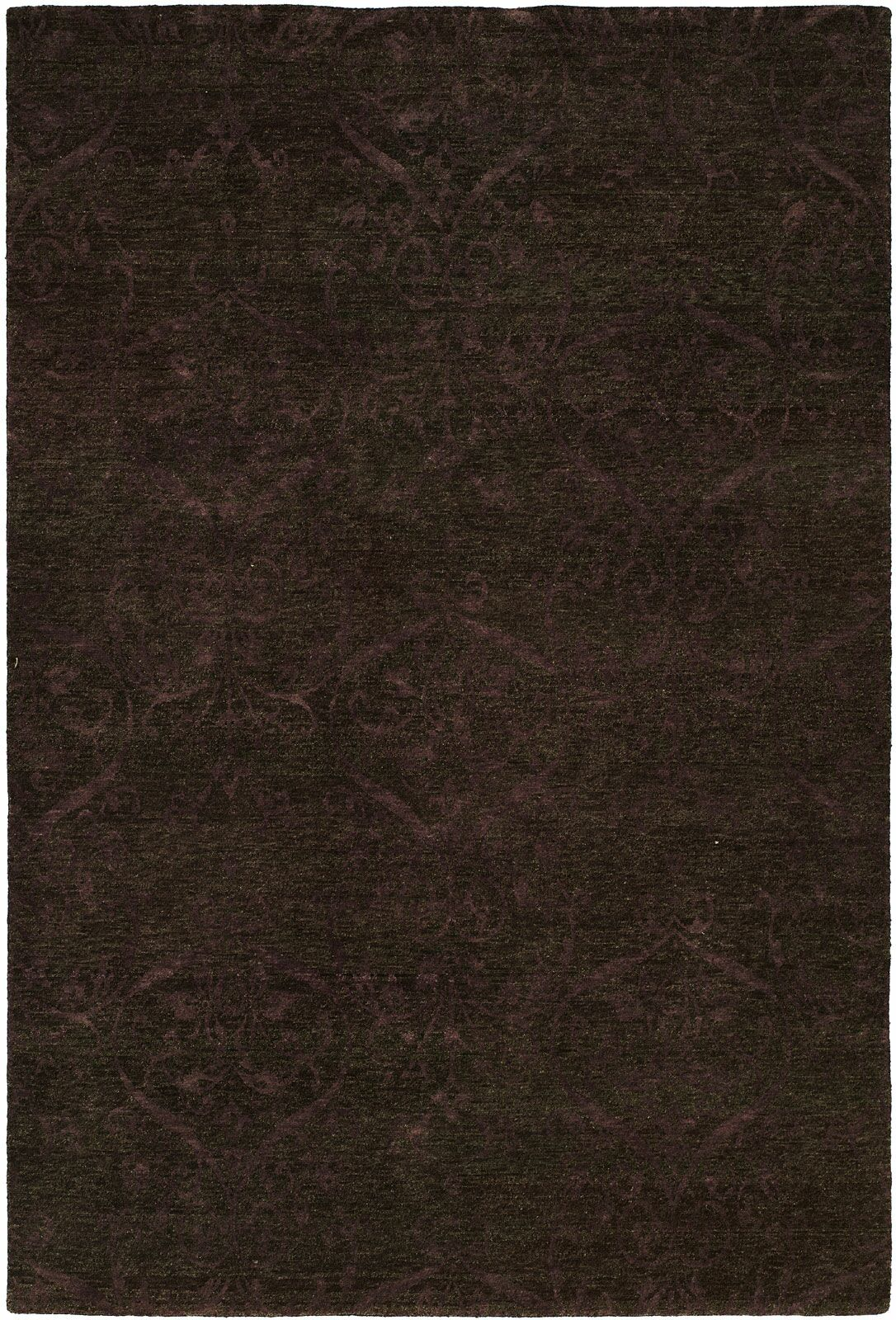 Sihanoukville Hand-Knotted Dark Gray/Purple Area Rug Rug Size: Square 8'