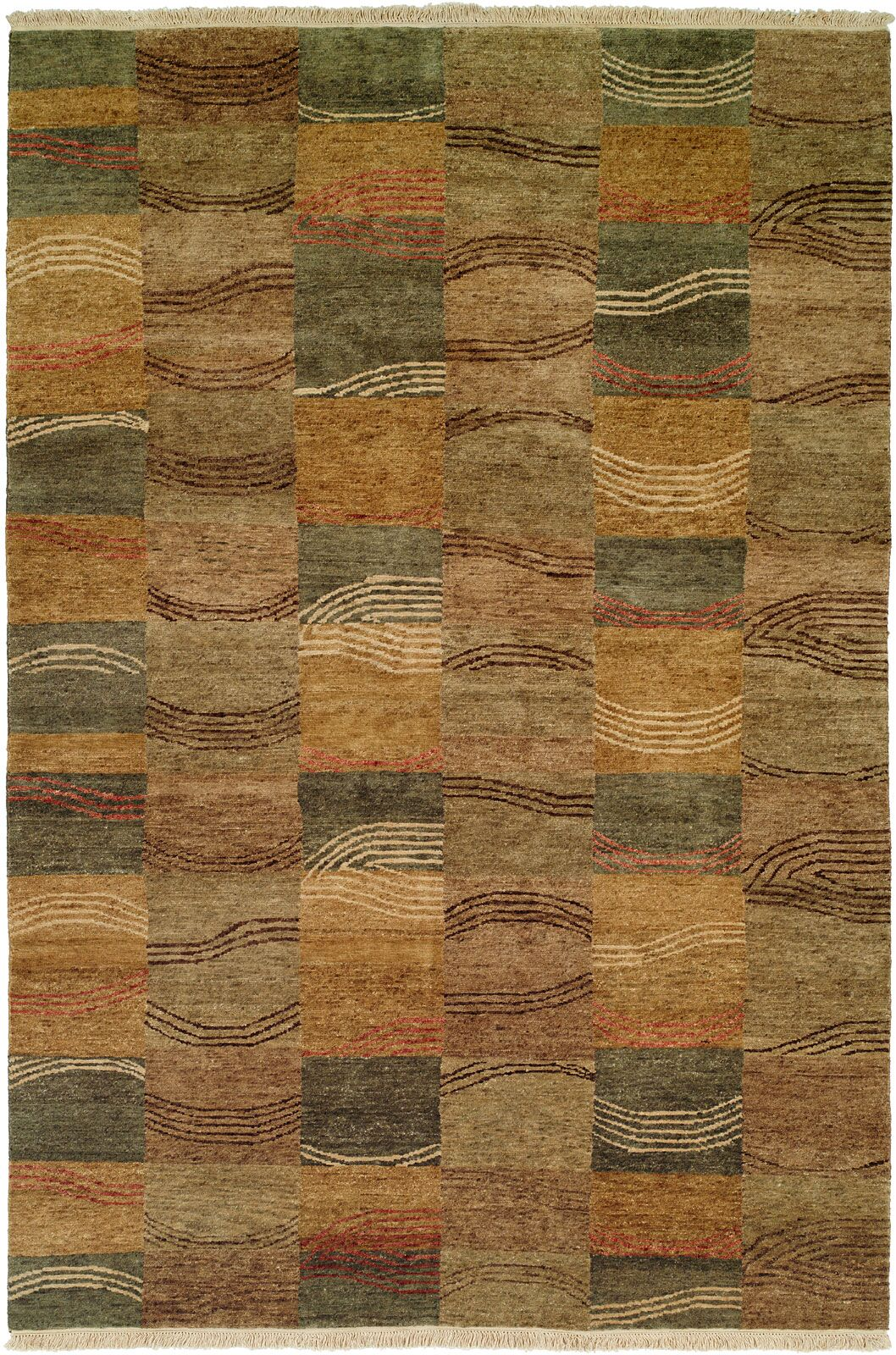 Namp'O Hand-Knotted Brown/Gray Area Rug Rug Size: Runner 2'6